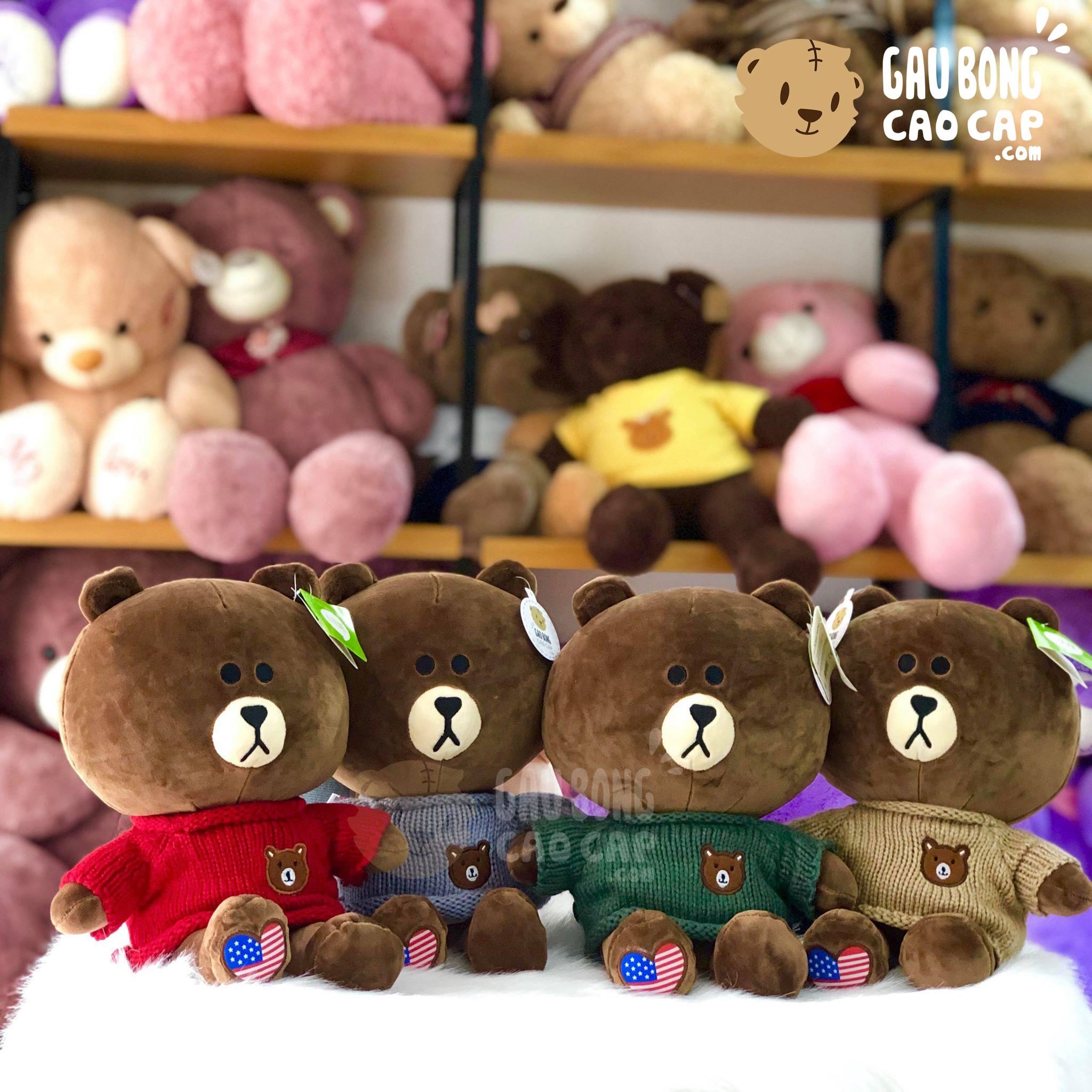 Gấu Brown mặc áo len