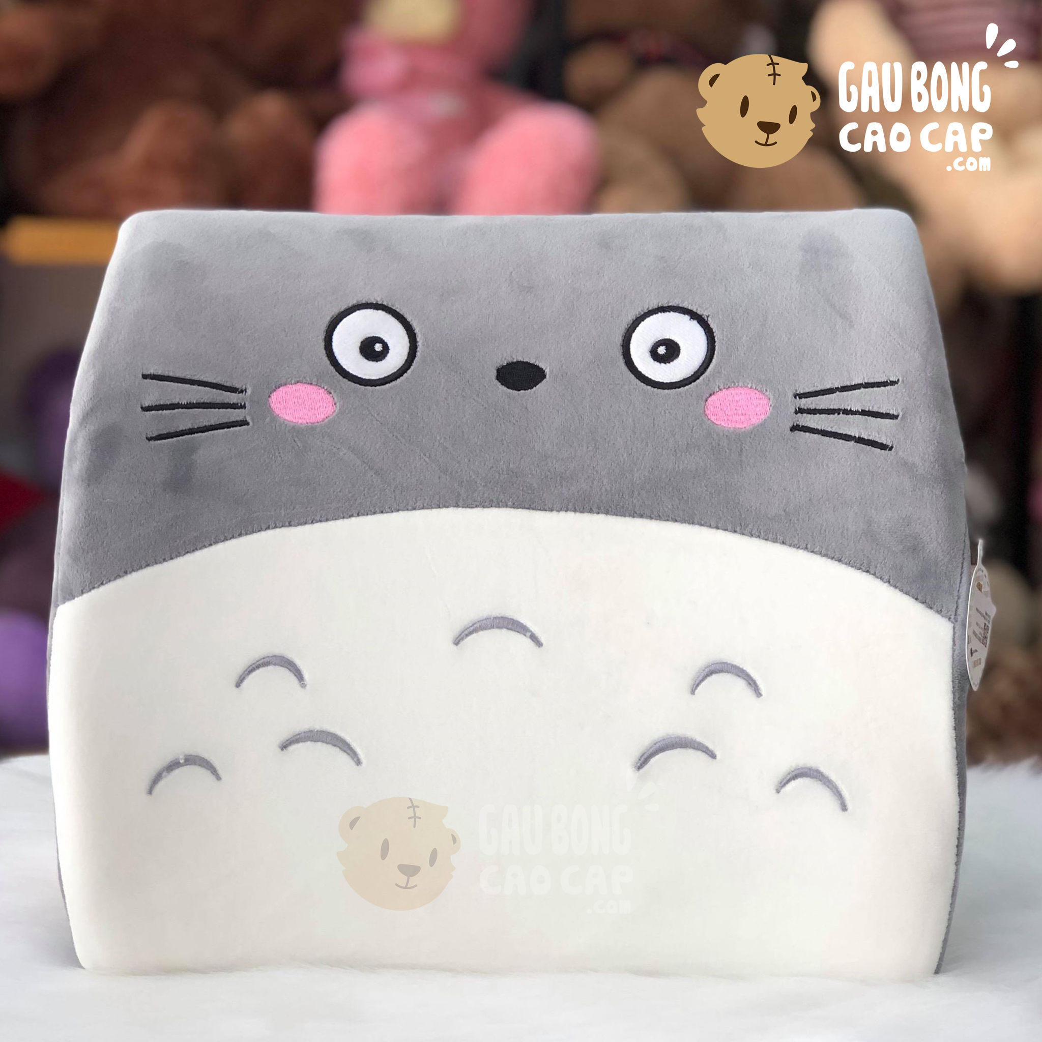 Gối tự lưng/lót mông Totoro hình vuông