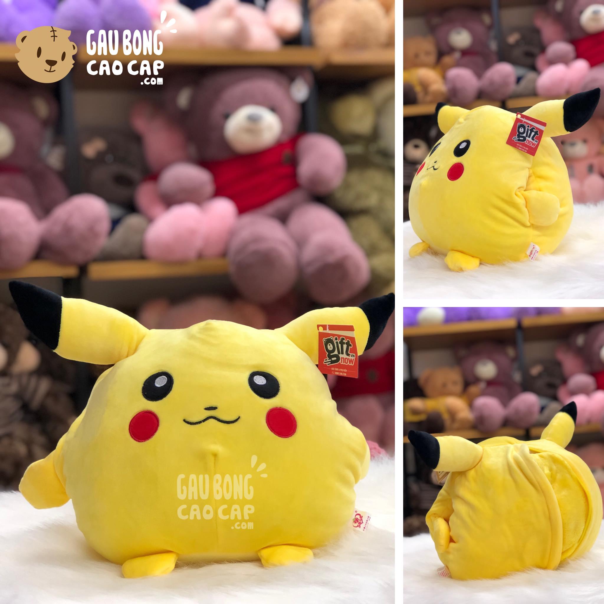 Gối mền đút tay 2in1 Pikachu vàng