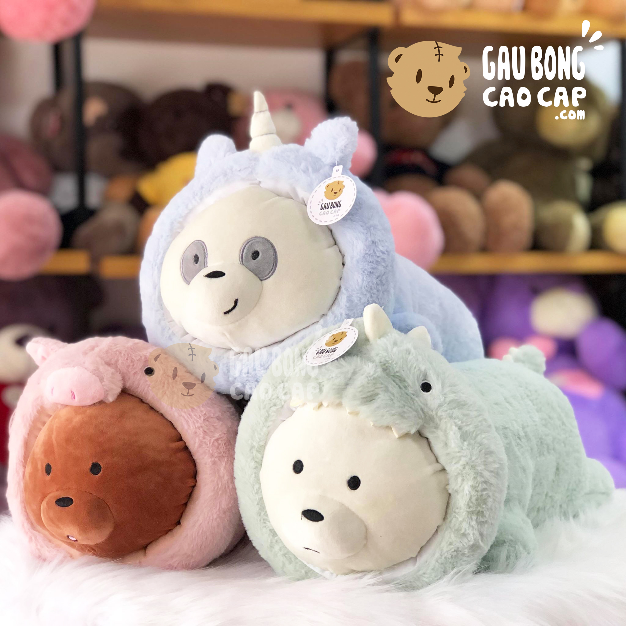 Gấu Bông We Bare Bear nằm Cosplay
