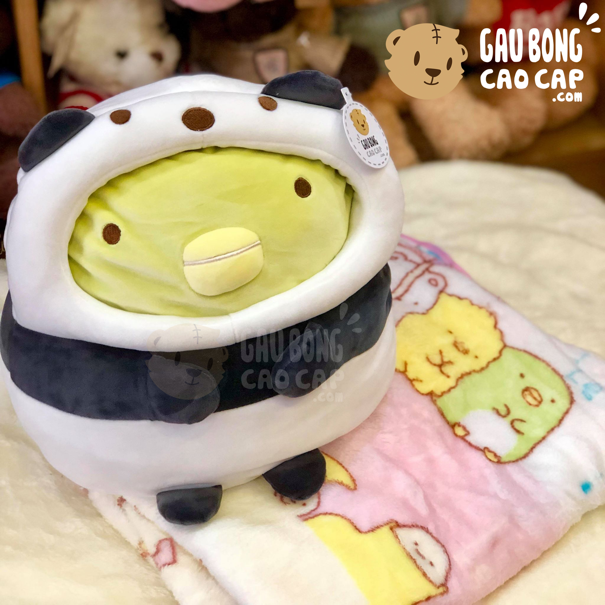 Gối mền 2in1 thú Sumikko Penguin cosplay Panda