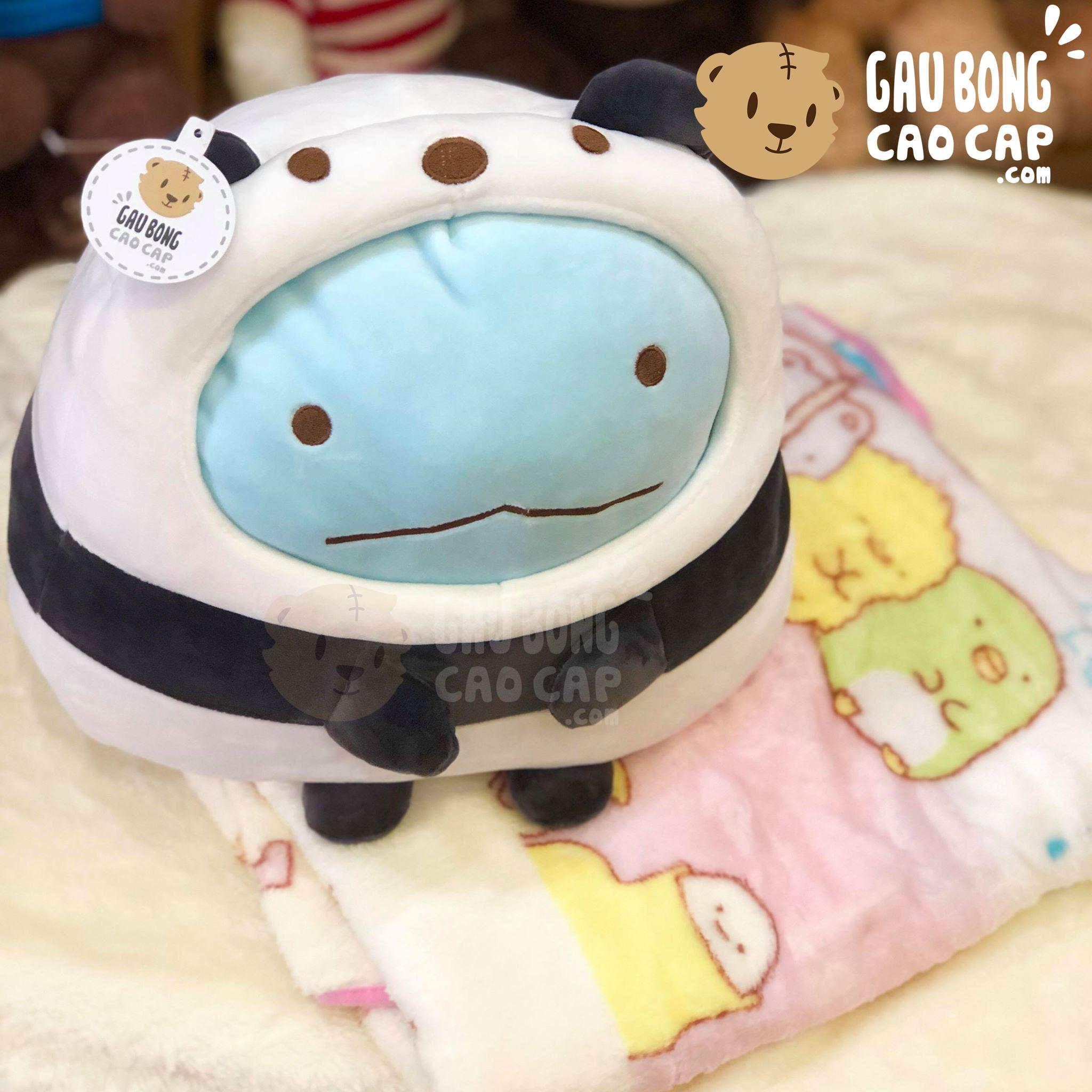Gối mền 2in1 thú Sumikko Tokage cosplay Panda