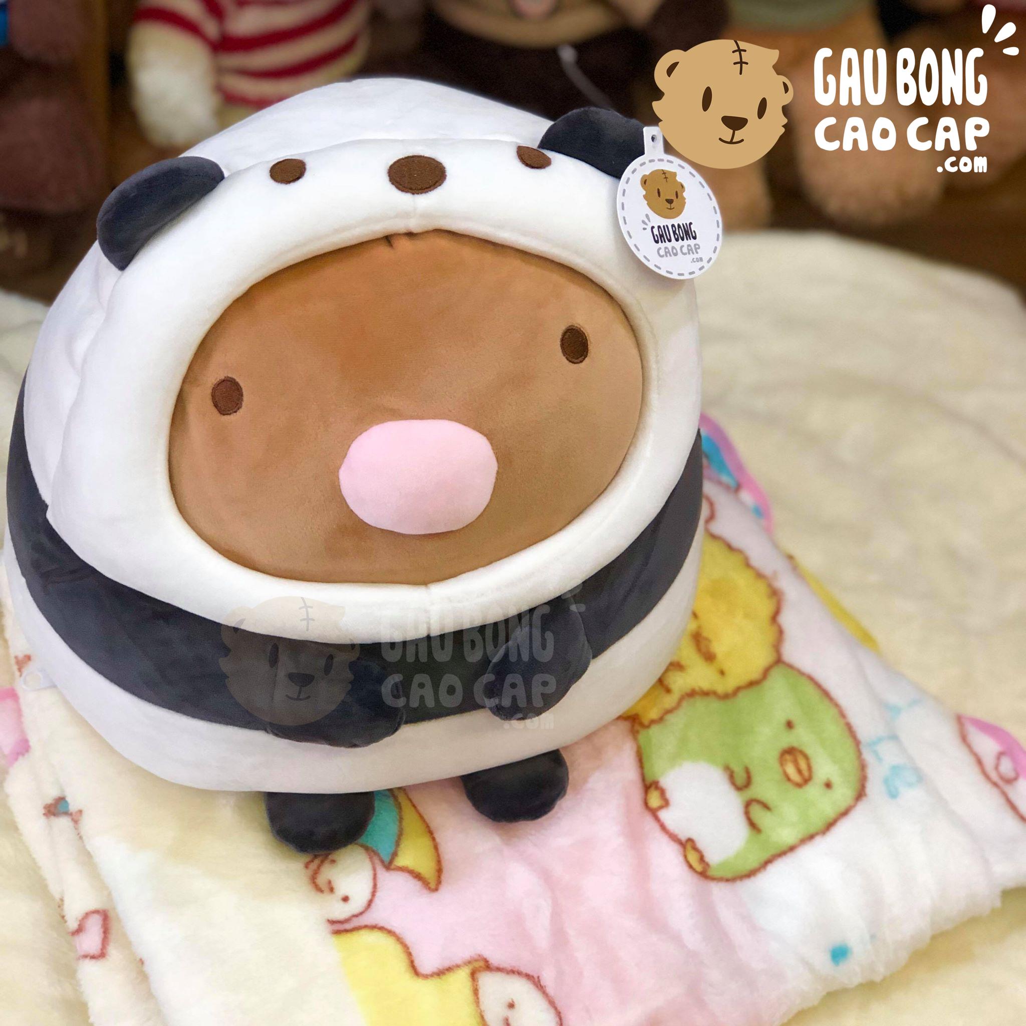 Gối mền 2in1 thú Sumikko Tonkatsu cosplay Panda