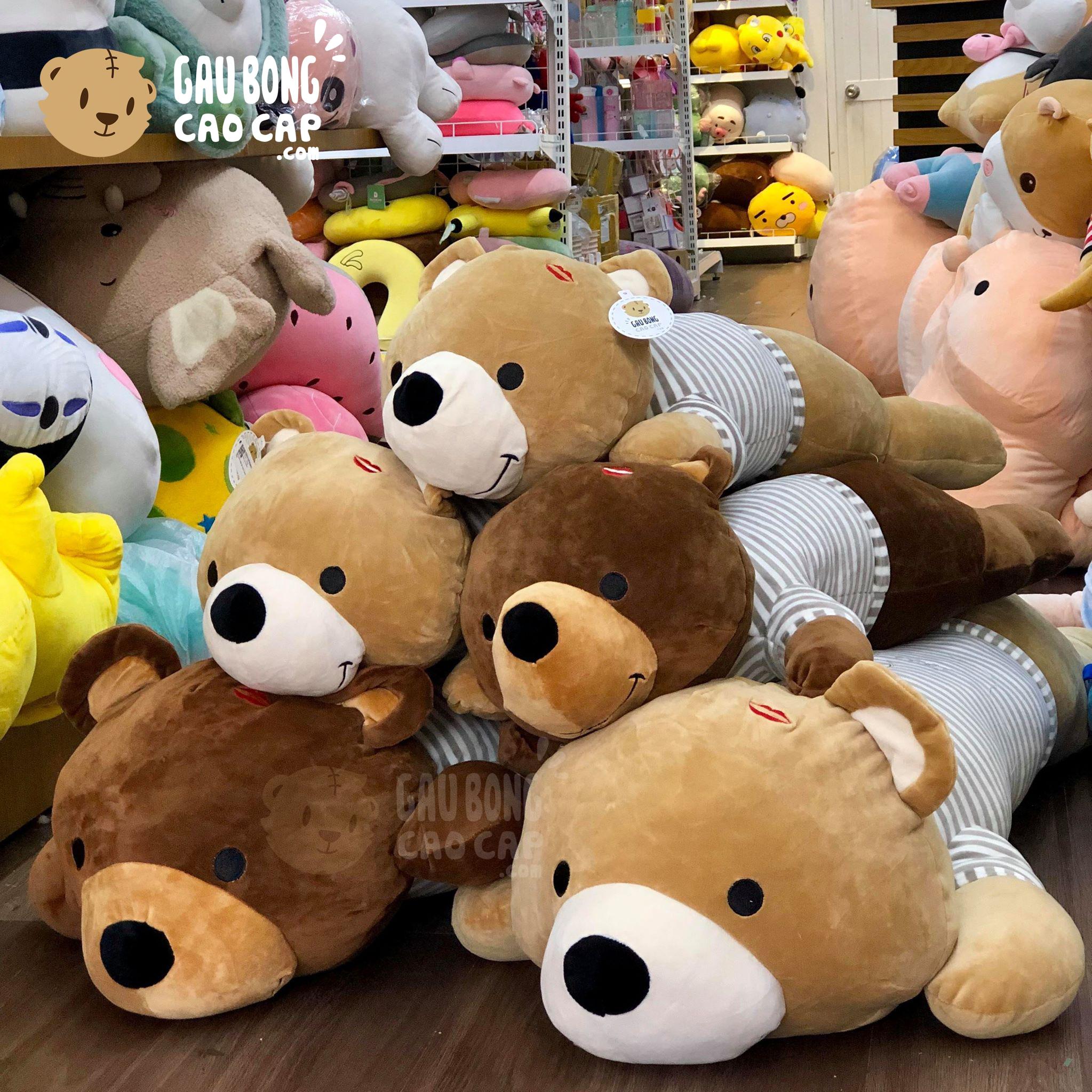 Gấu nằm mặc áo sọc Love You
