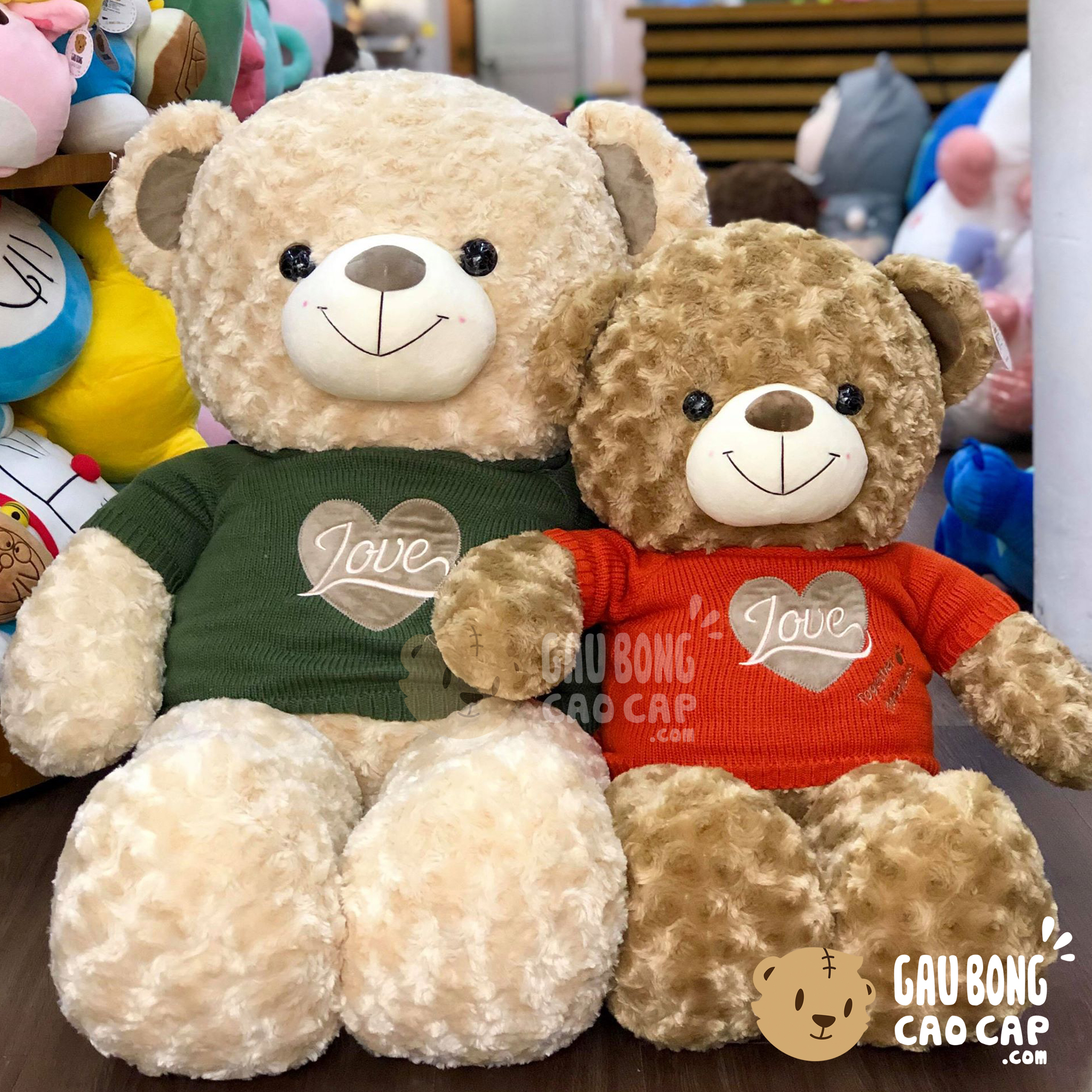 Gấu Teddy áo len Love Together Happiness