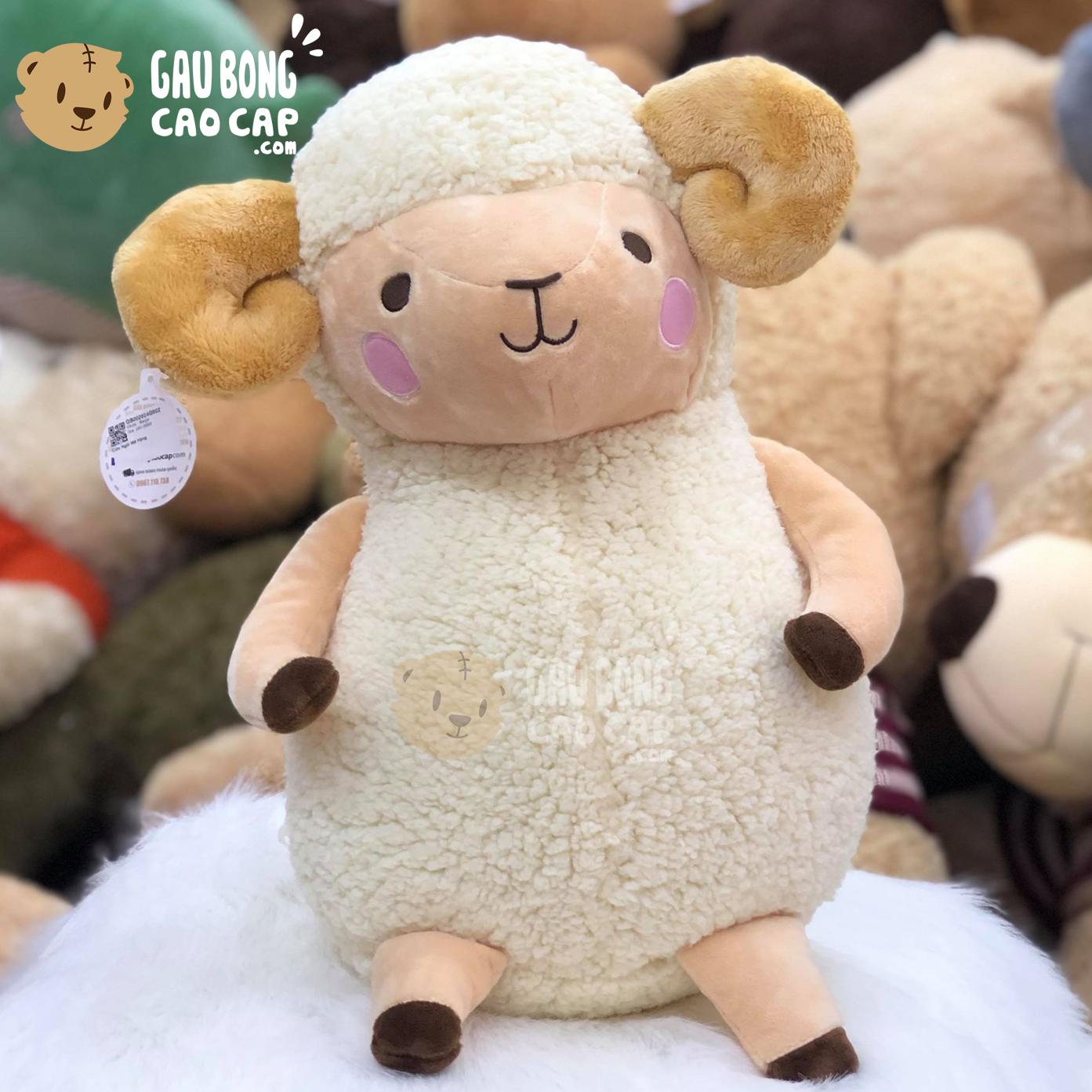 Cừu Bông má hồng - Màu Trắng