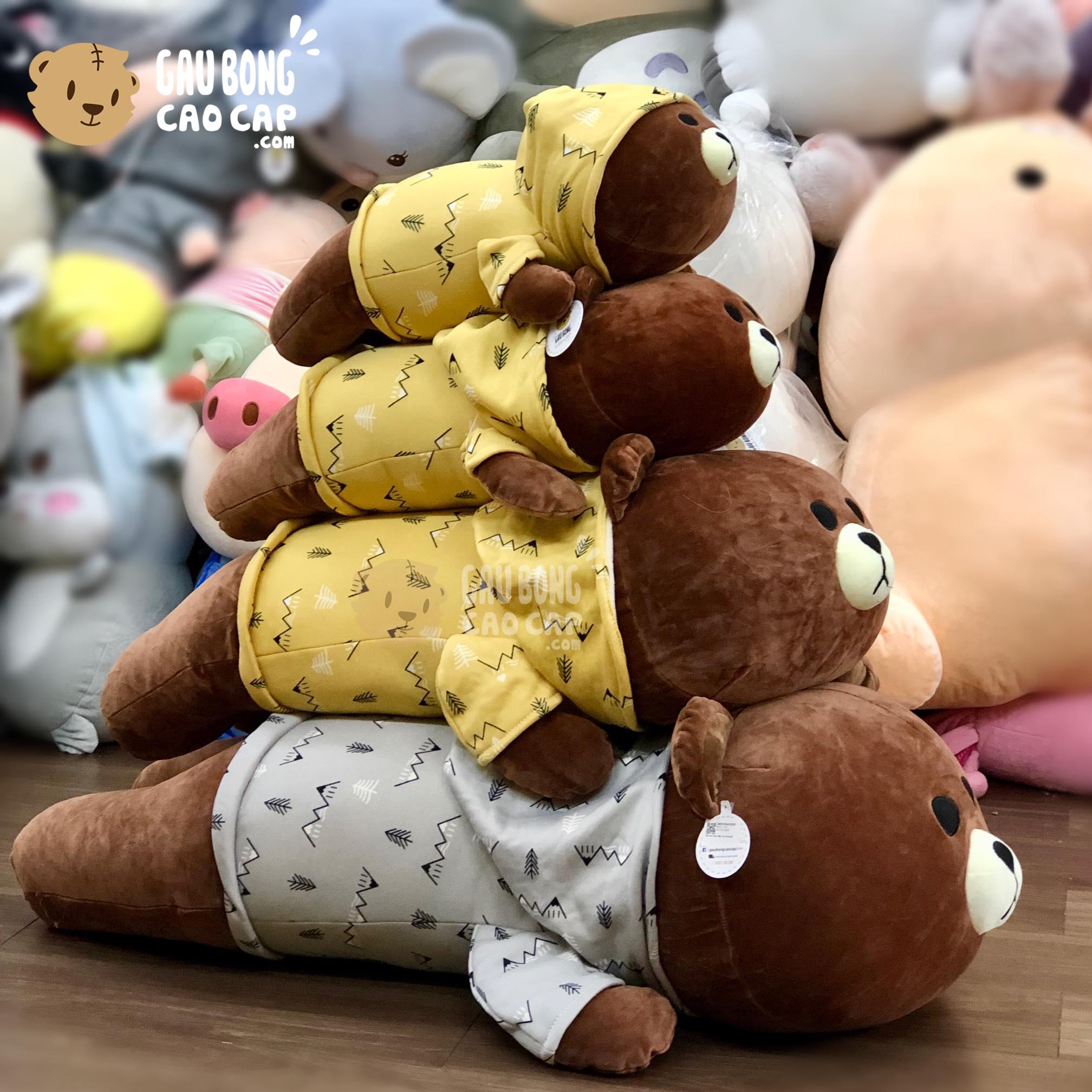 Gấu Bông Brown nằm mặc áo Hoodie