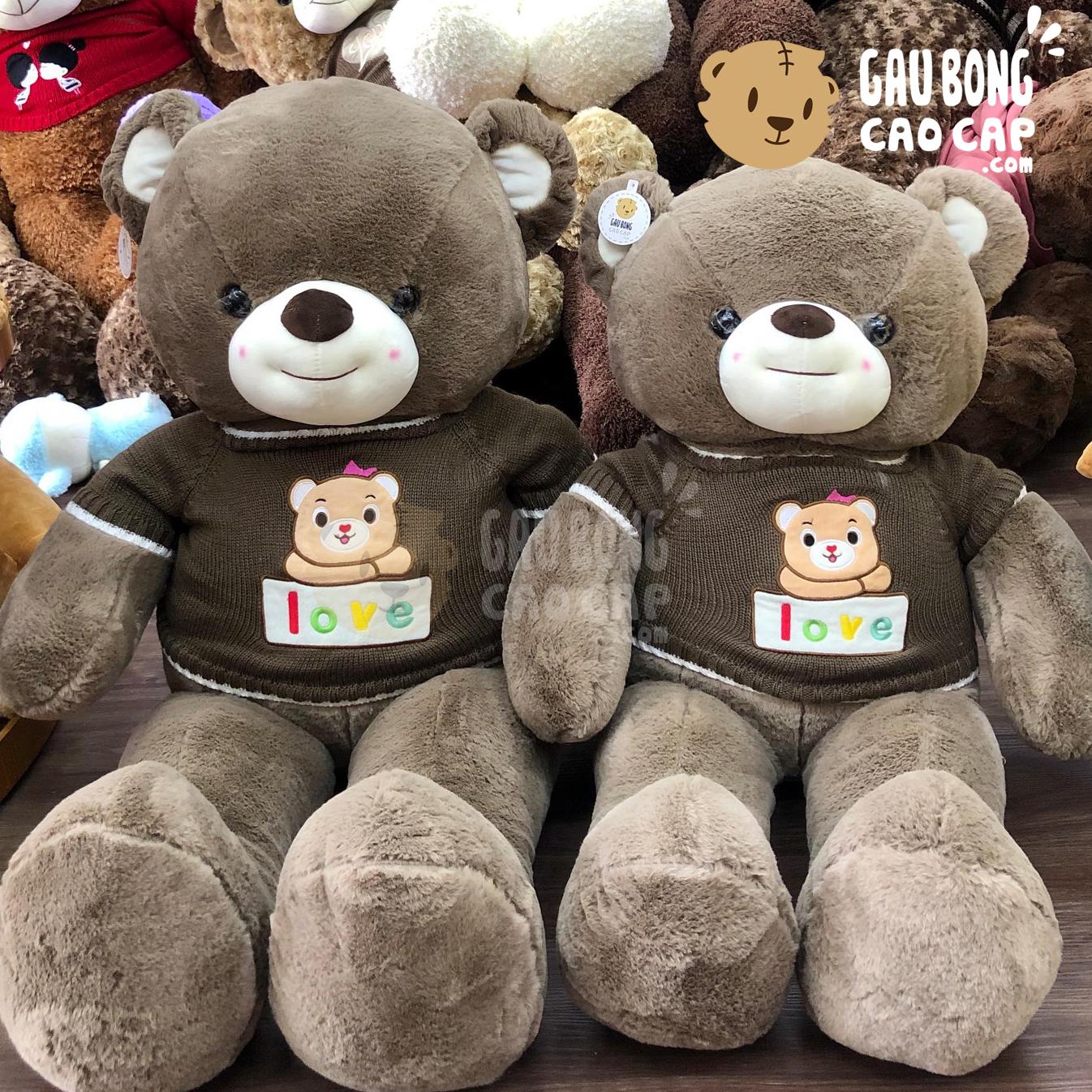 Gấu Teddy Smiley áo len Love Gấu