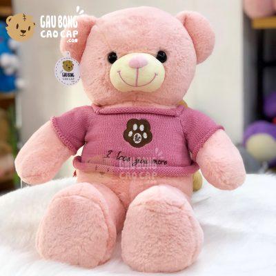 Gấu Teddy Smooth áo len thêu Chân Gấu I Love You More - 65cm