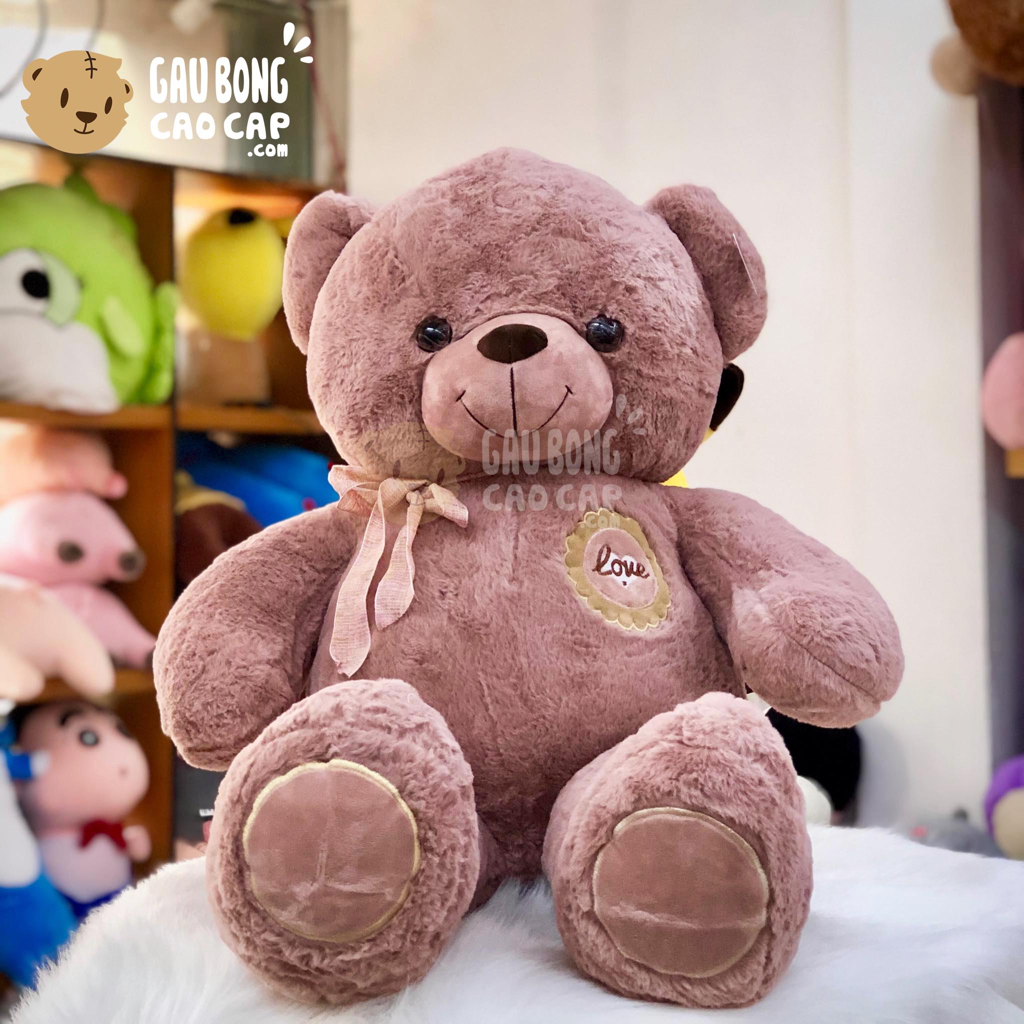 Gấu Teddy Smooth Ngực Hoa Love