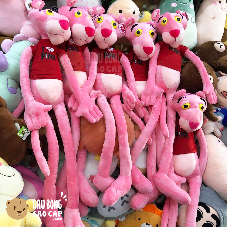 Gấu Bông Báo Hồng Áo Thun Đỏ I Love Pink