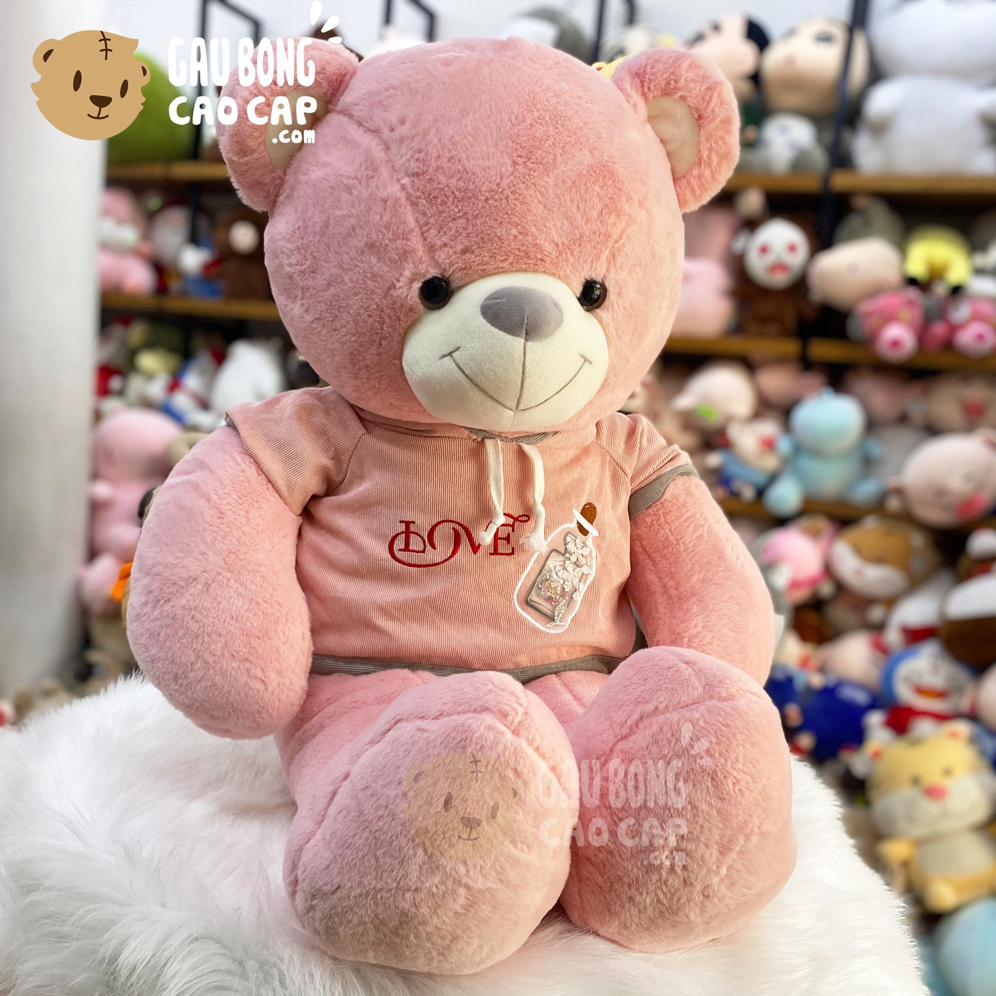 Gấu Teddy Smooth mặc áo Hoodie Love