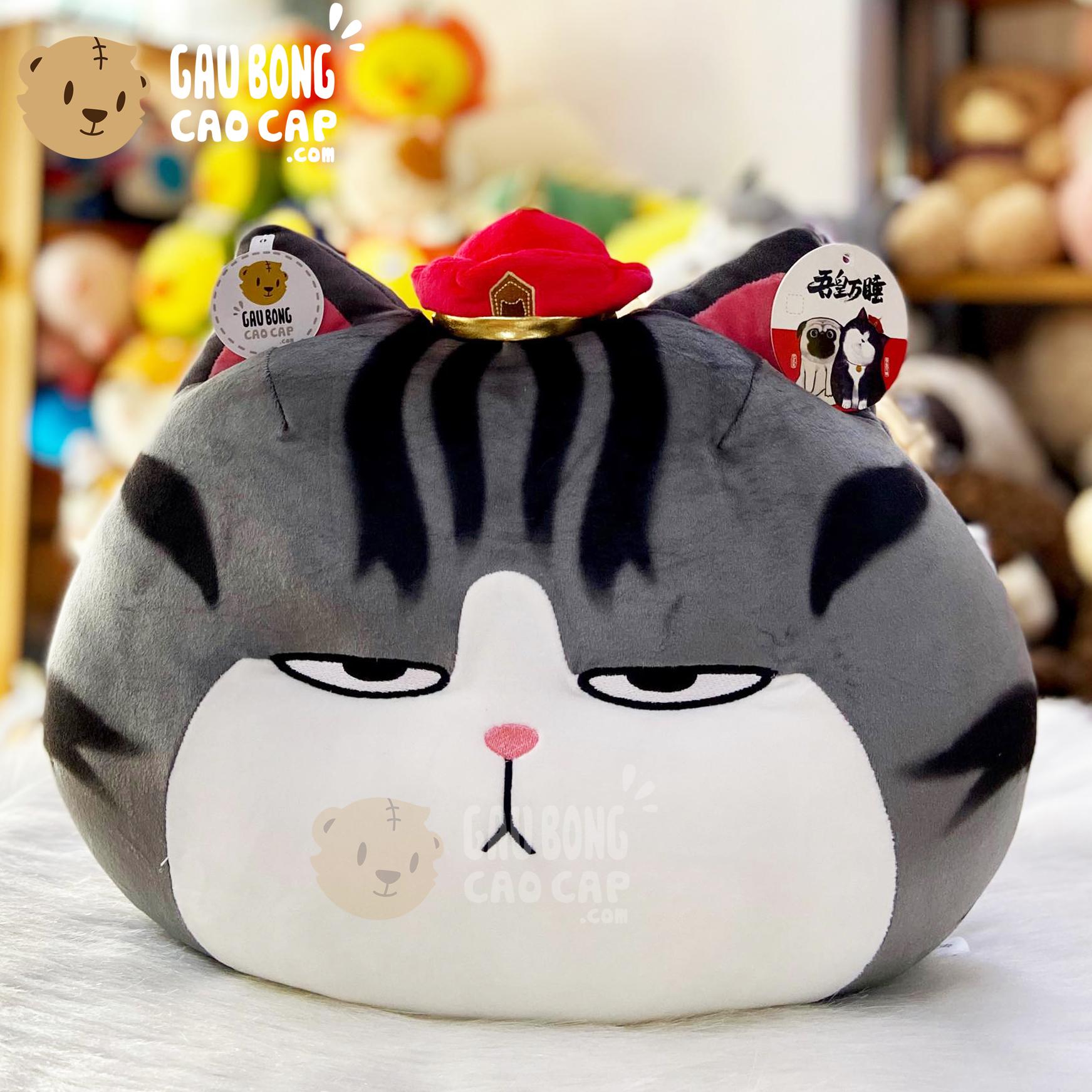 Mèo Bông Hoàng Thượng - Gối ôm Tròn