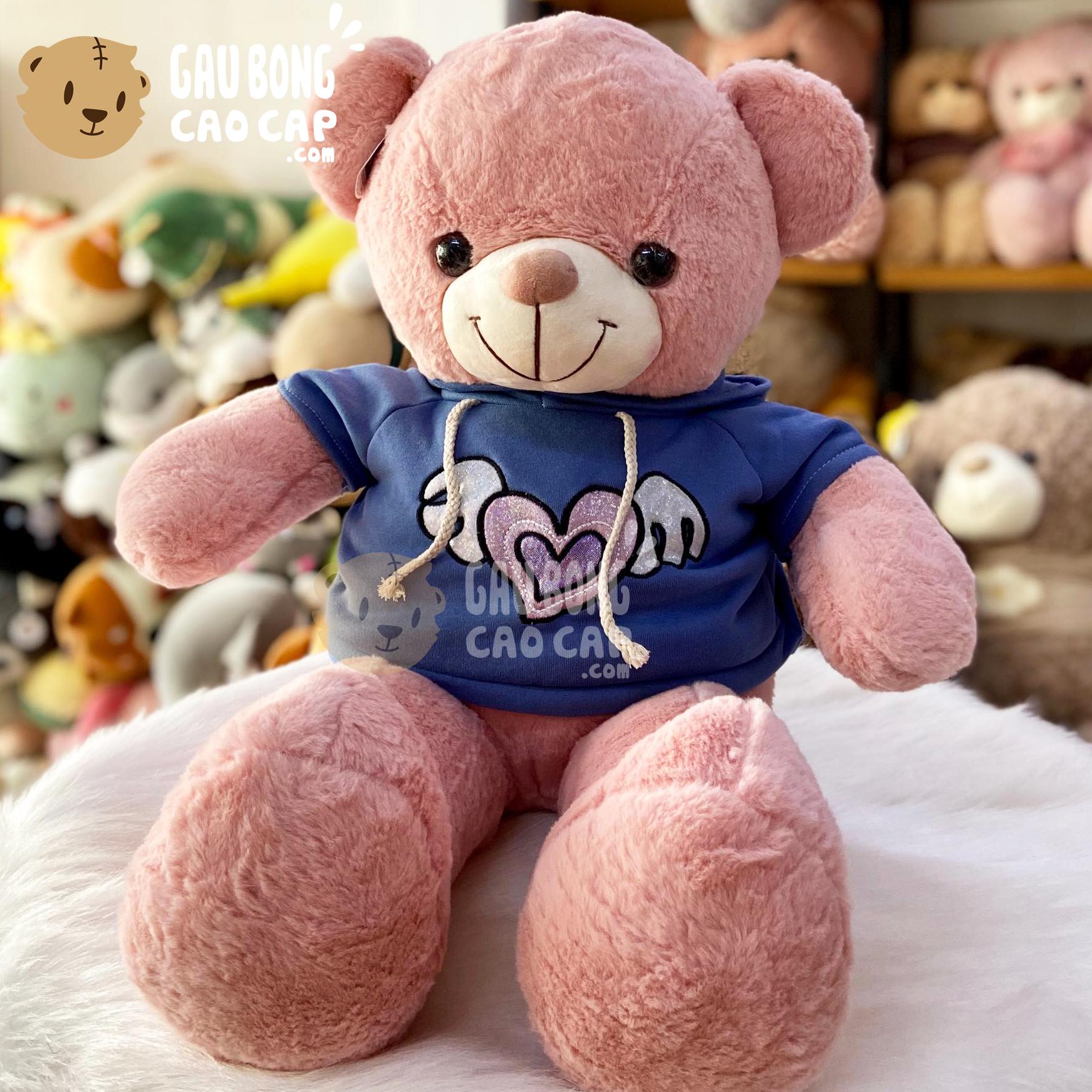 Gấu Teddy Smooth áo Hoodie Tim Cánh Lấp Lánh