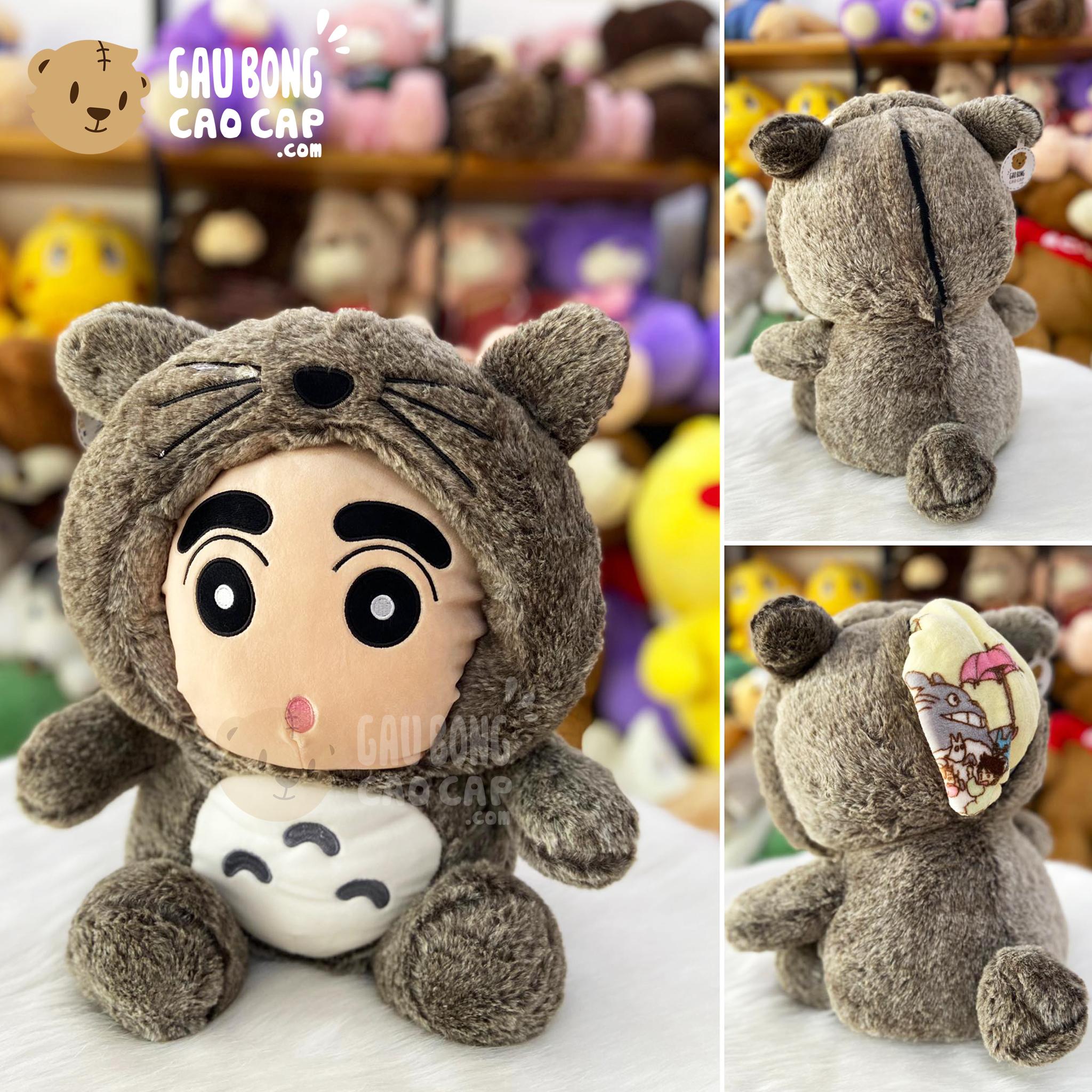 Gối mền SHIN cosplay Totoro lông tơ
