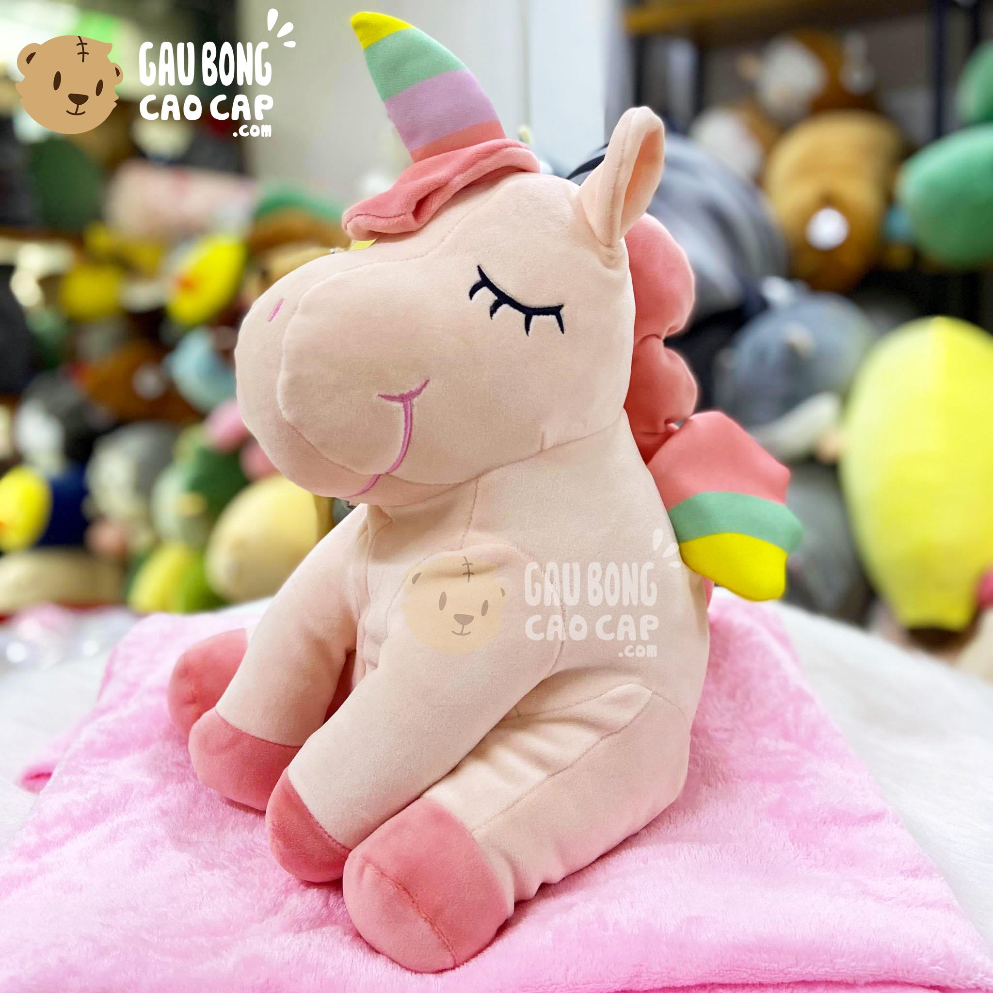 Gối mền 2in1 Unicorn ngồi lông mịn 4 chân