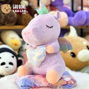 Gối mền 2in1 Unicorn ôm tim