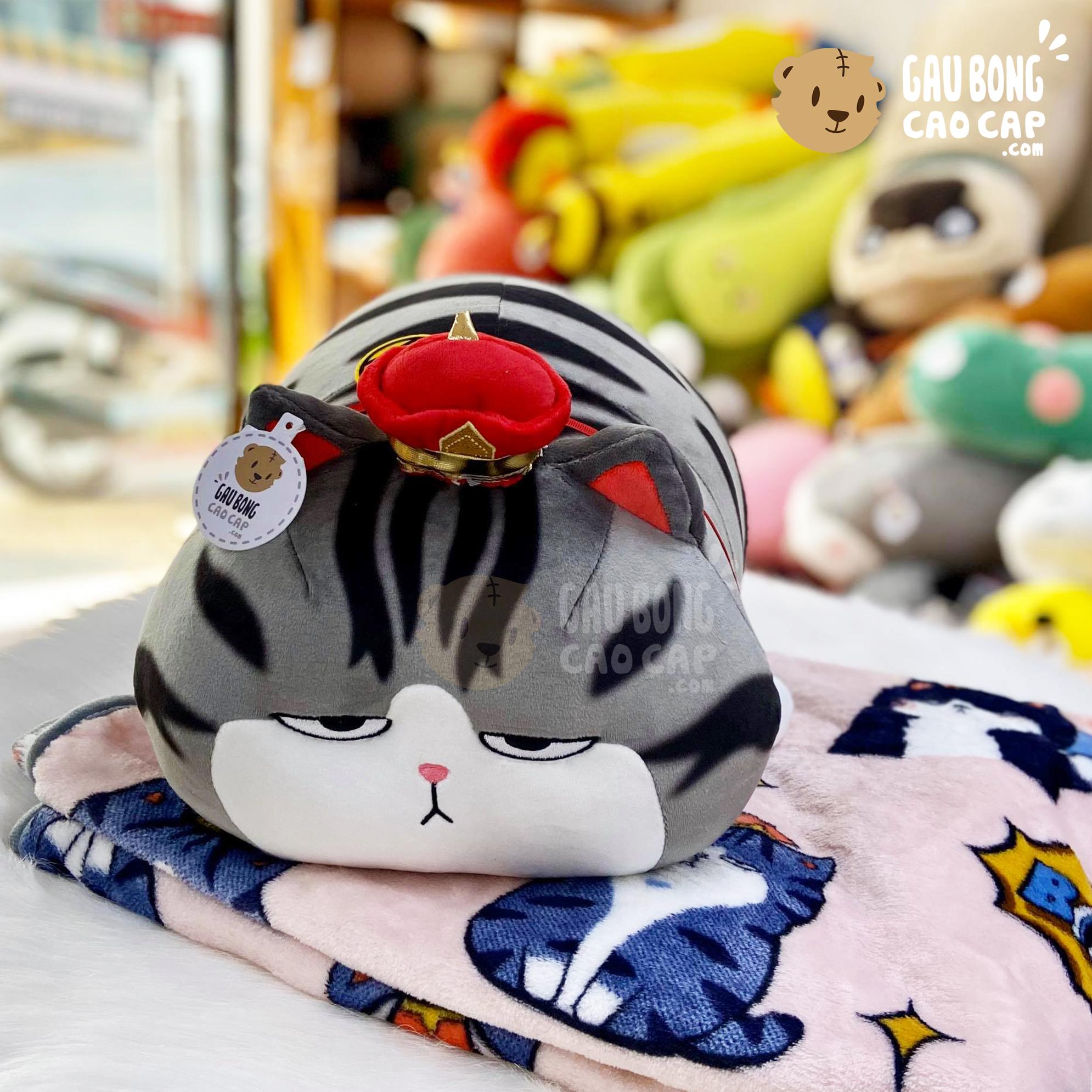 Gối mền 2in1 Mèo Bông Hoàng Thượng nằm