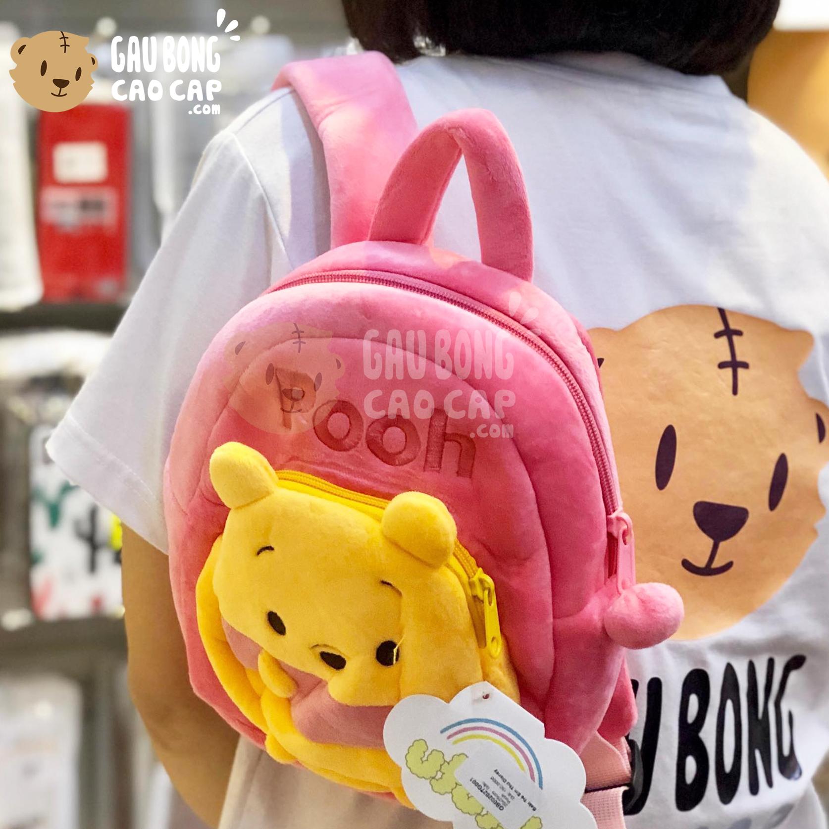 Balo Gấu Pooh lông nhung mịn