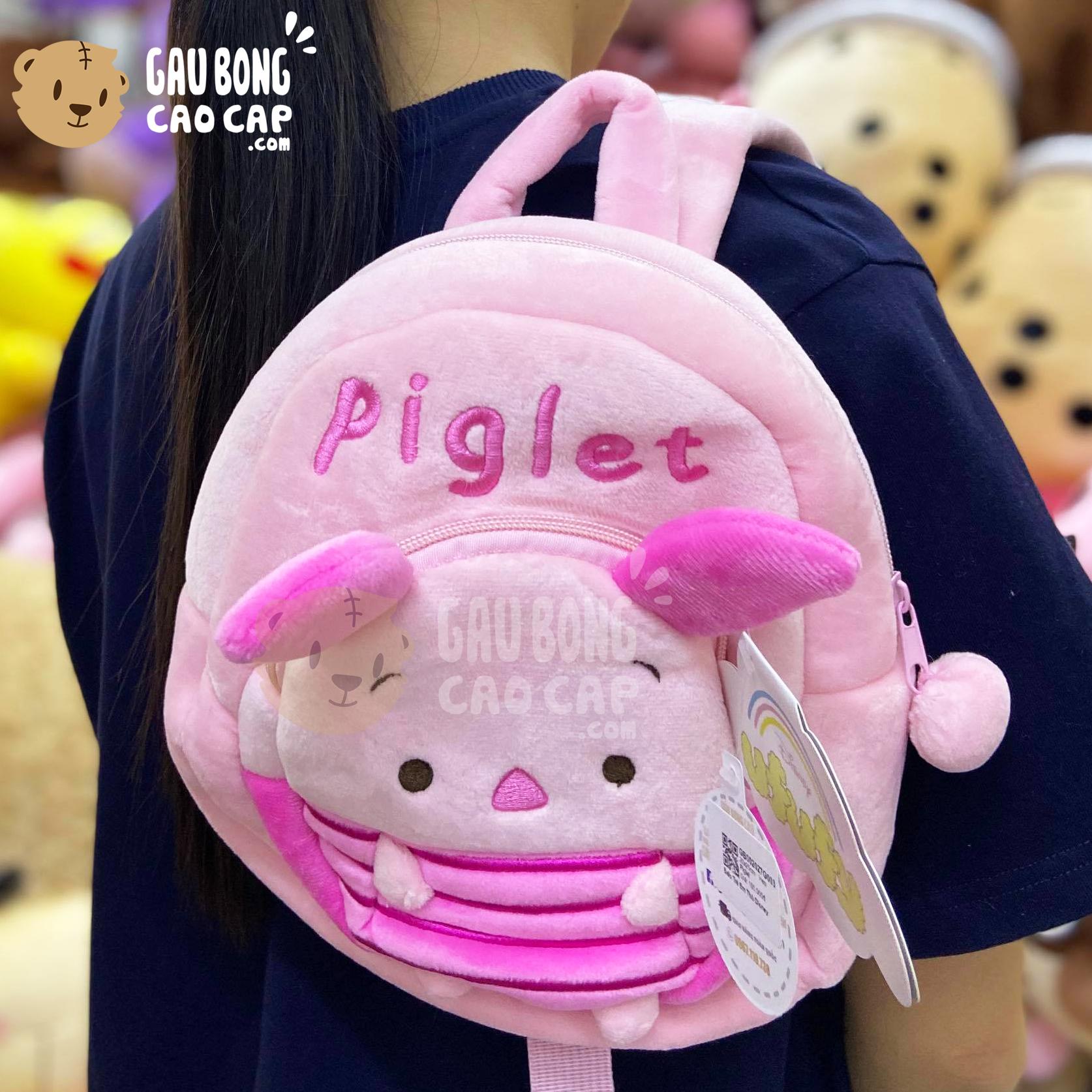 Balo Chuột Heo Piglet vải nhung mịn
