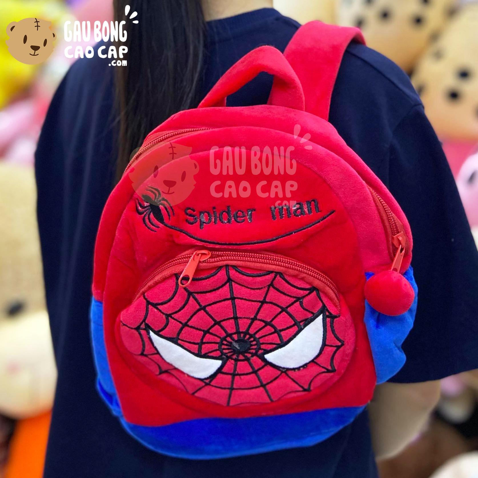 Balo siêu nhân người nhện Spiderman vải nhung mịn