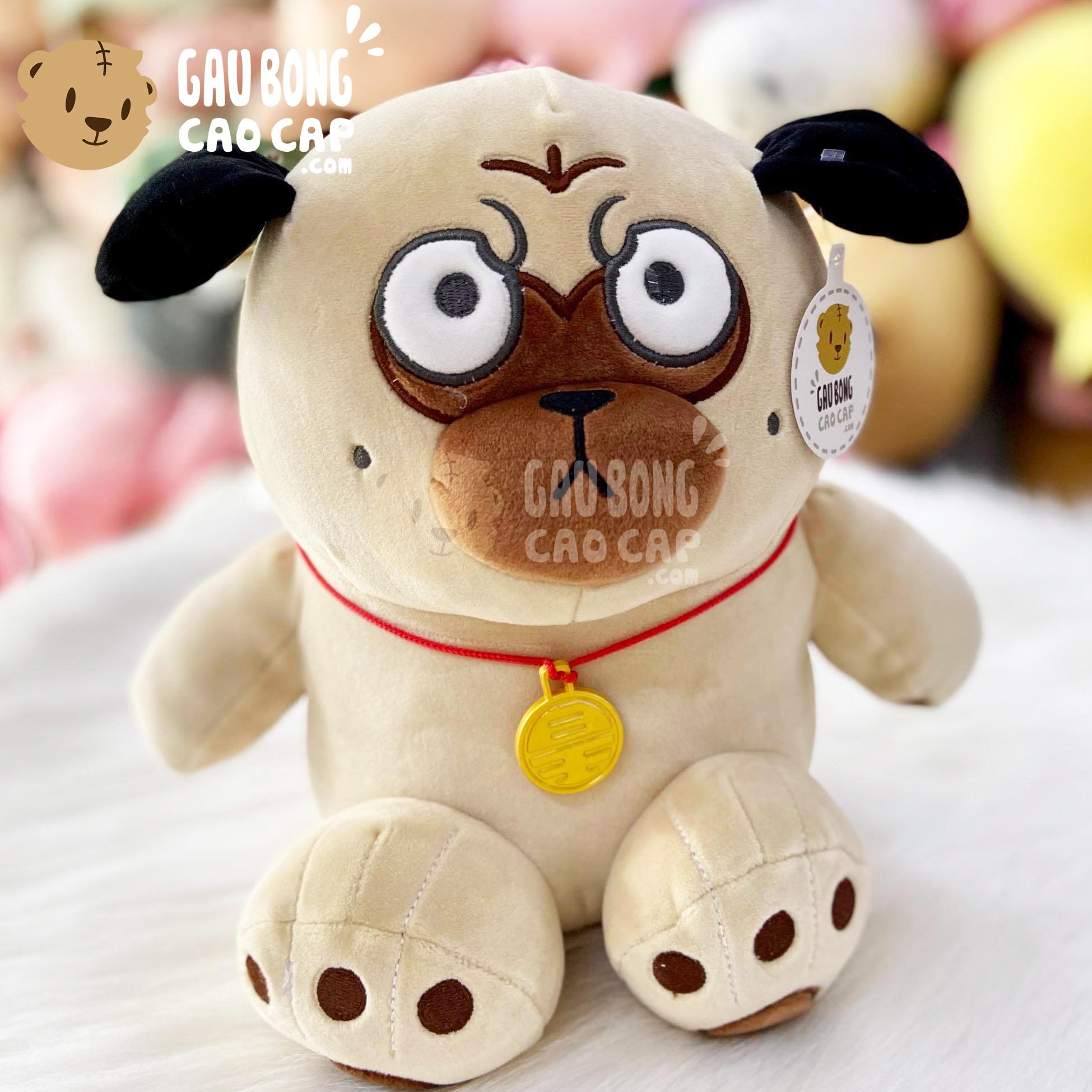 Chó Bông mặt xệ - Chó Bông nô tài giang tay Size nhỏ