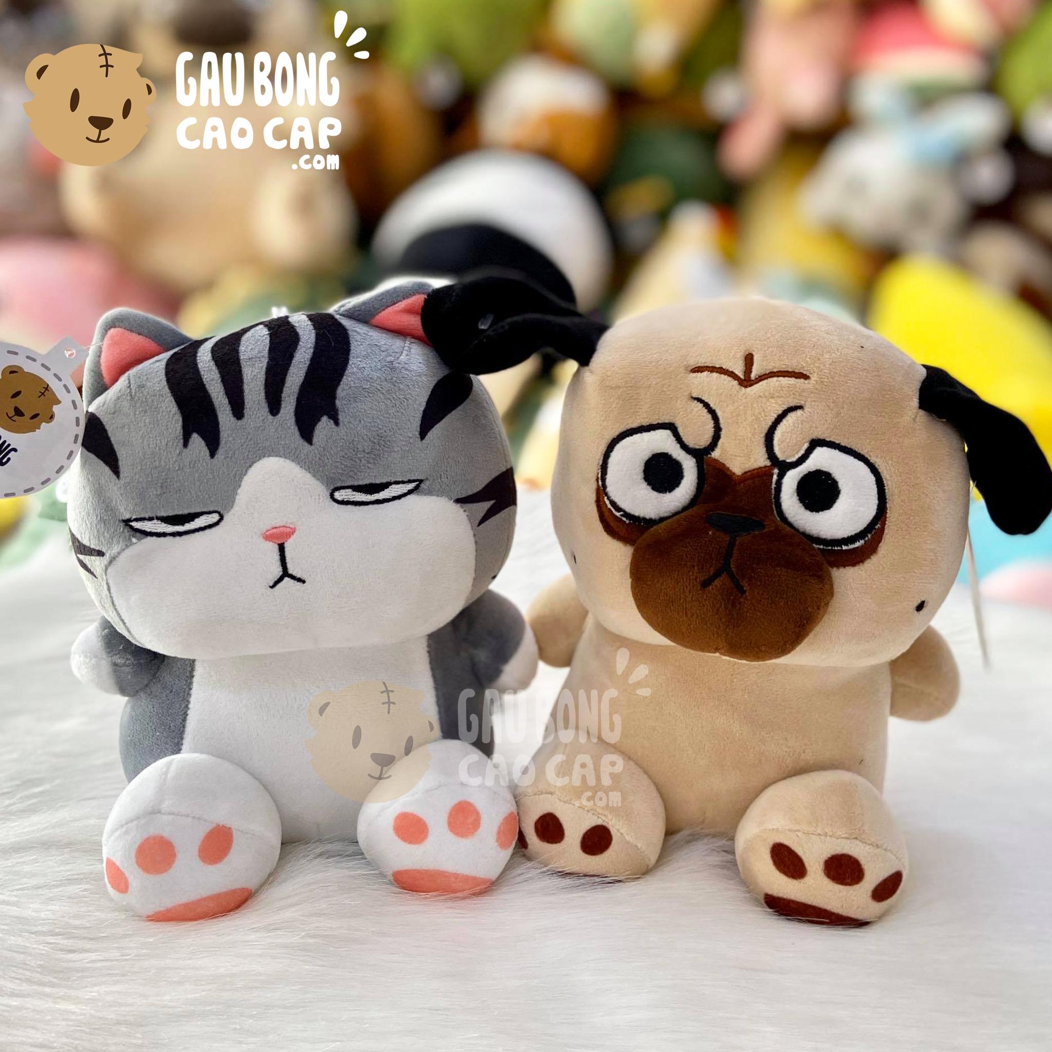 Cặp - Gấu Bông mèo hoàng thượng & Chó Bông Nô Tài baby