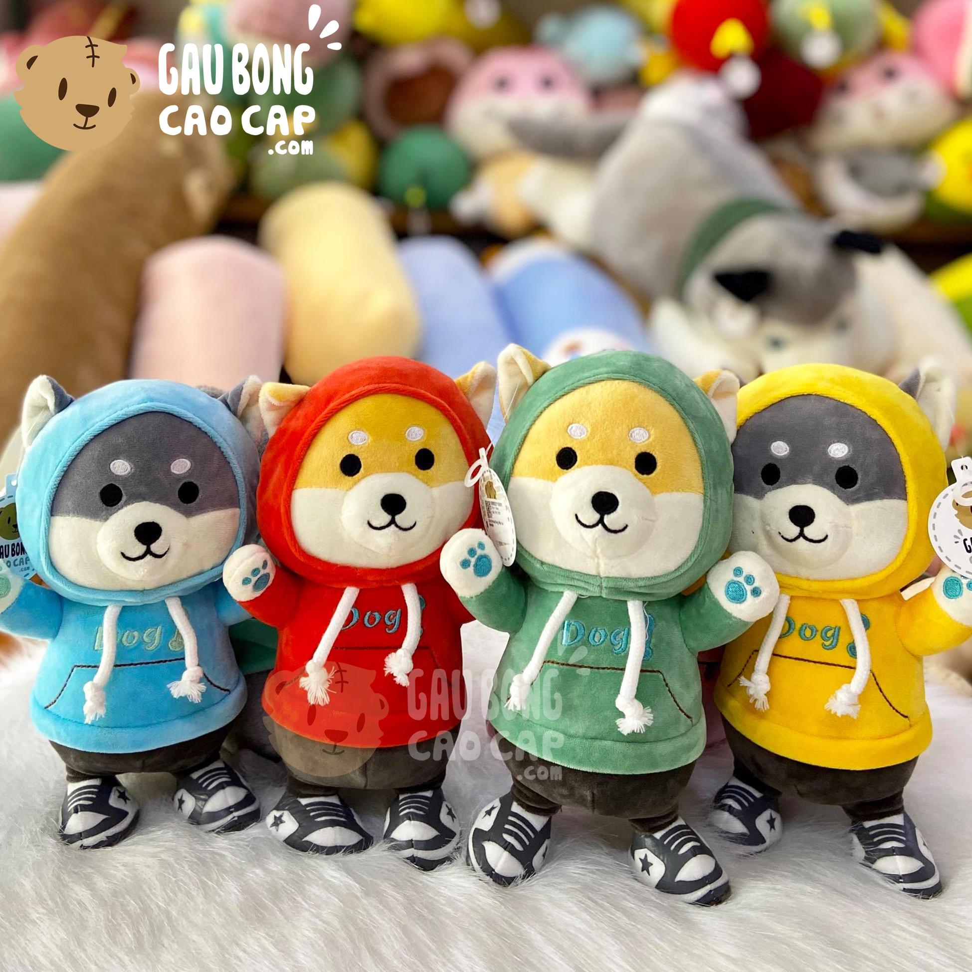 Chó Bông Shiba mặc áo Hoodie size nhỏ