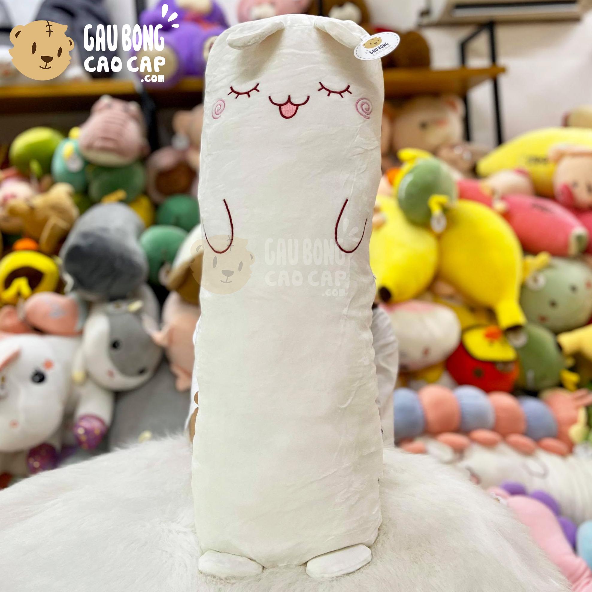 Thỏ Bông trắng gối ôm dài lông mịn