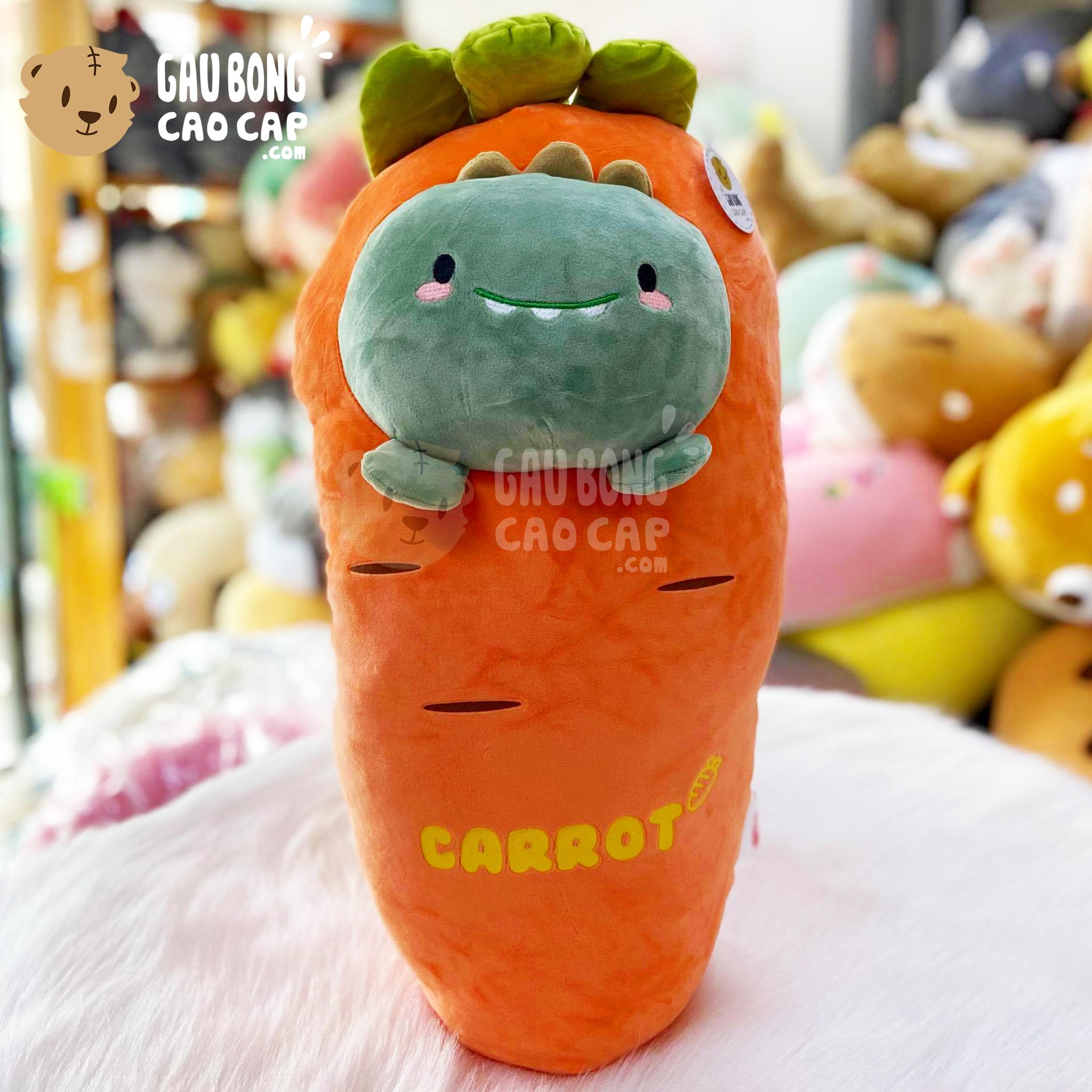 Gấu Bông Cà Rốt mặt khủng long