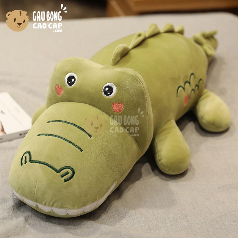 Cá Sấu Bông lông mịn má tim