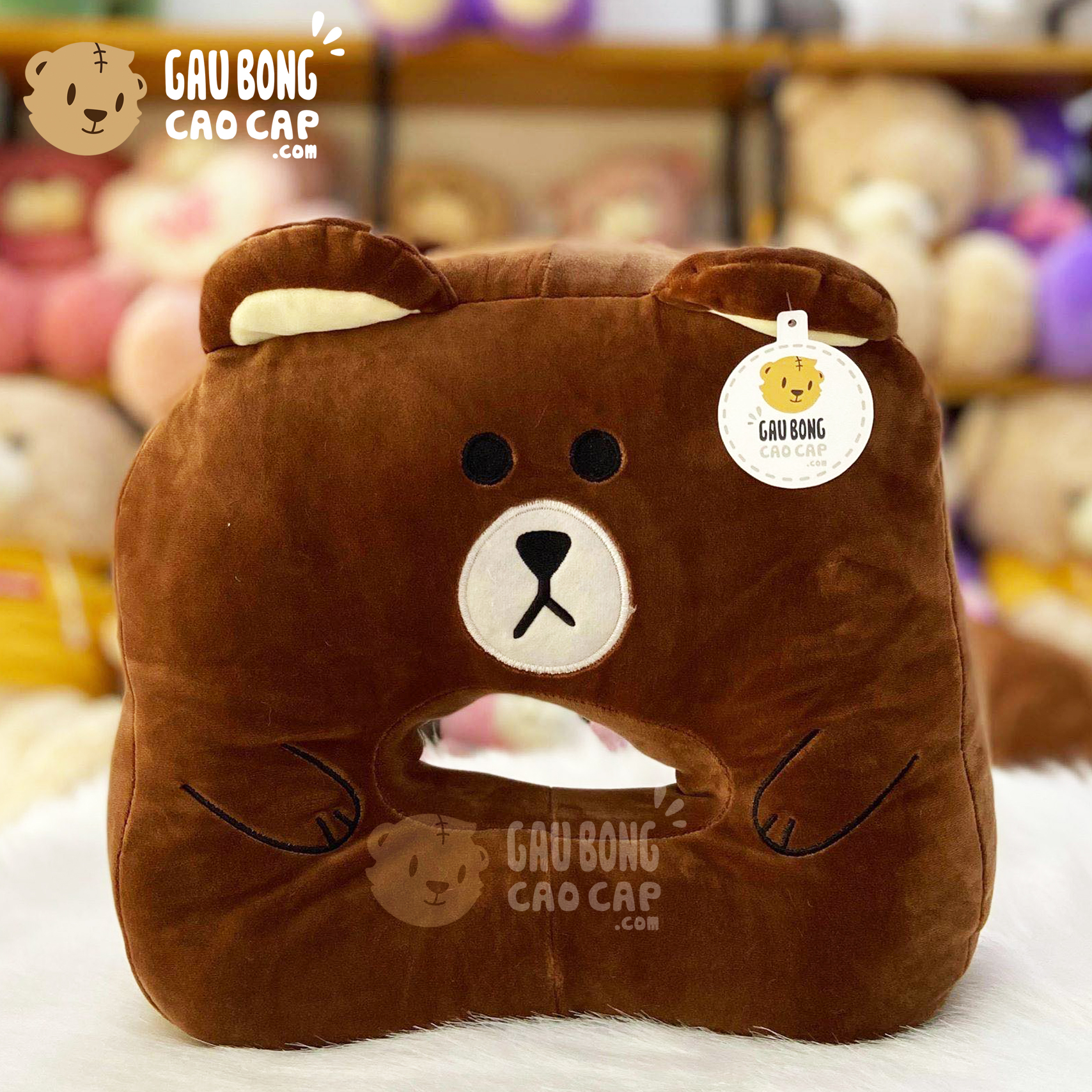 Gối ngủ úp mặt Gấu Brown - Gối ngủ Văn Phòng