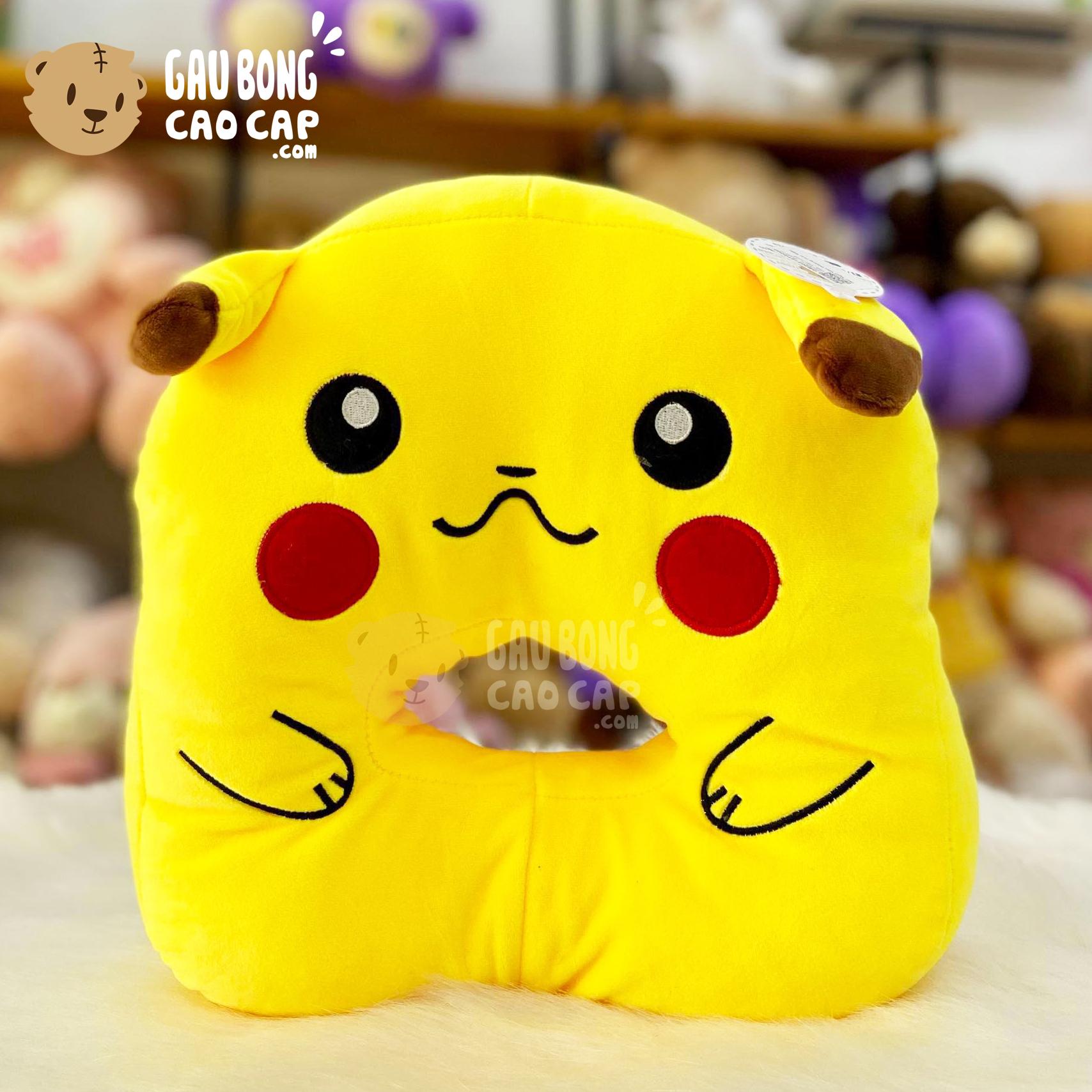 Gối ngủ úp mặt Pikachu - Gối ngủ Văn Phòng