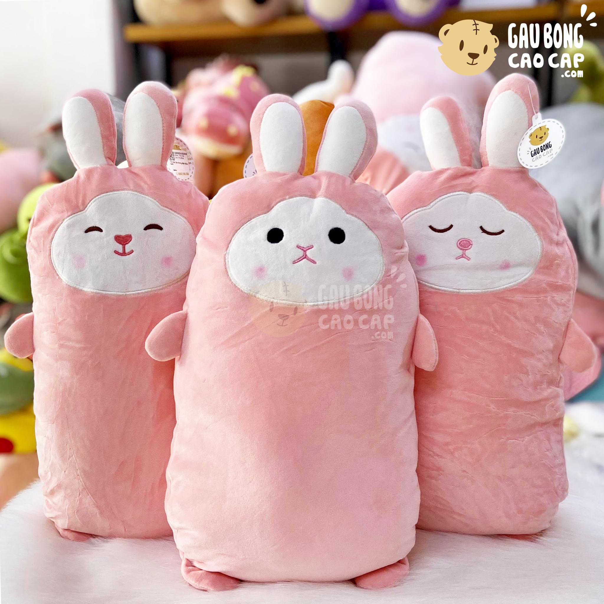 Thỏ Bông biểu cảm gối ôm dài