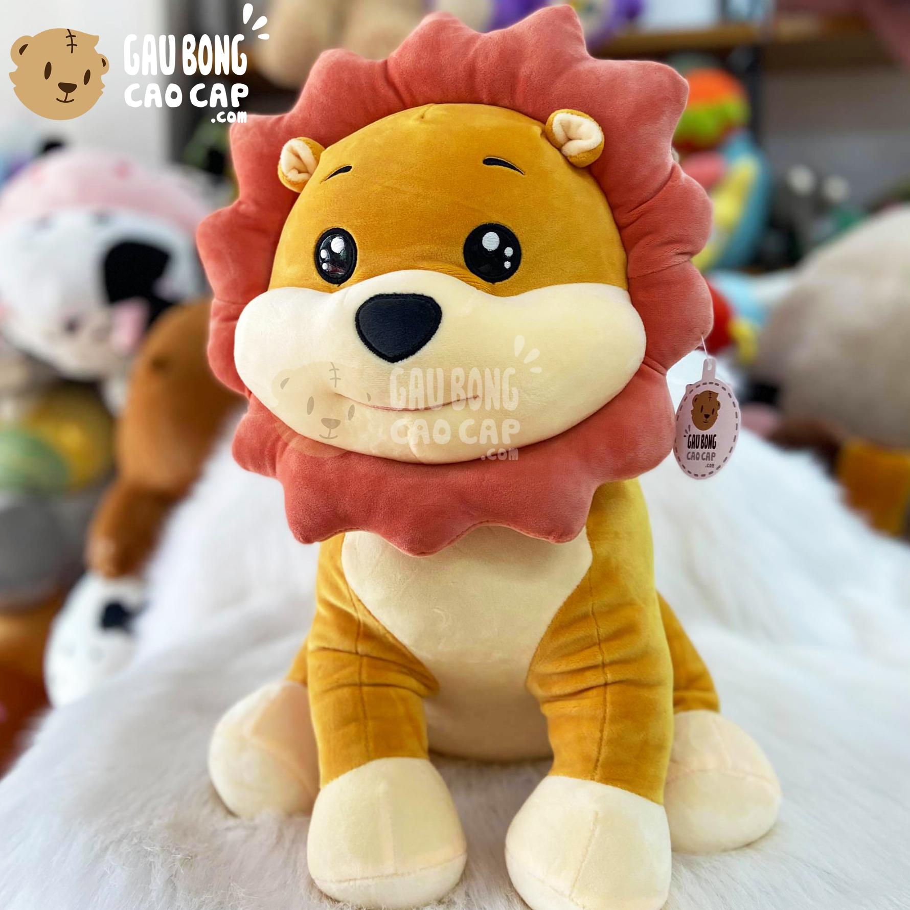 Gấu Bông Sư Tử Ngồi lông mịn