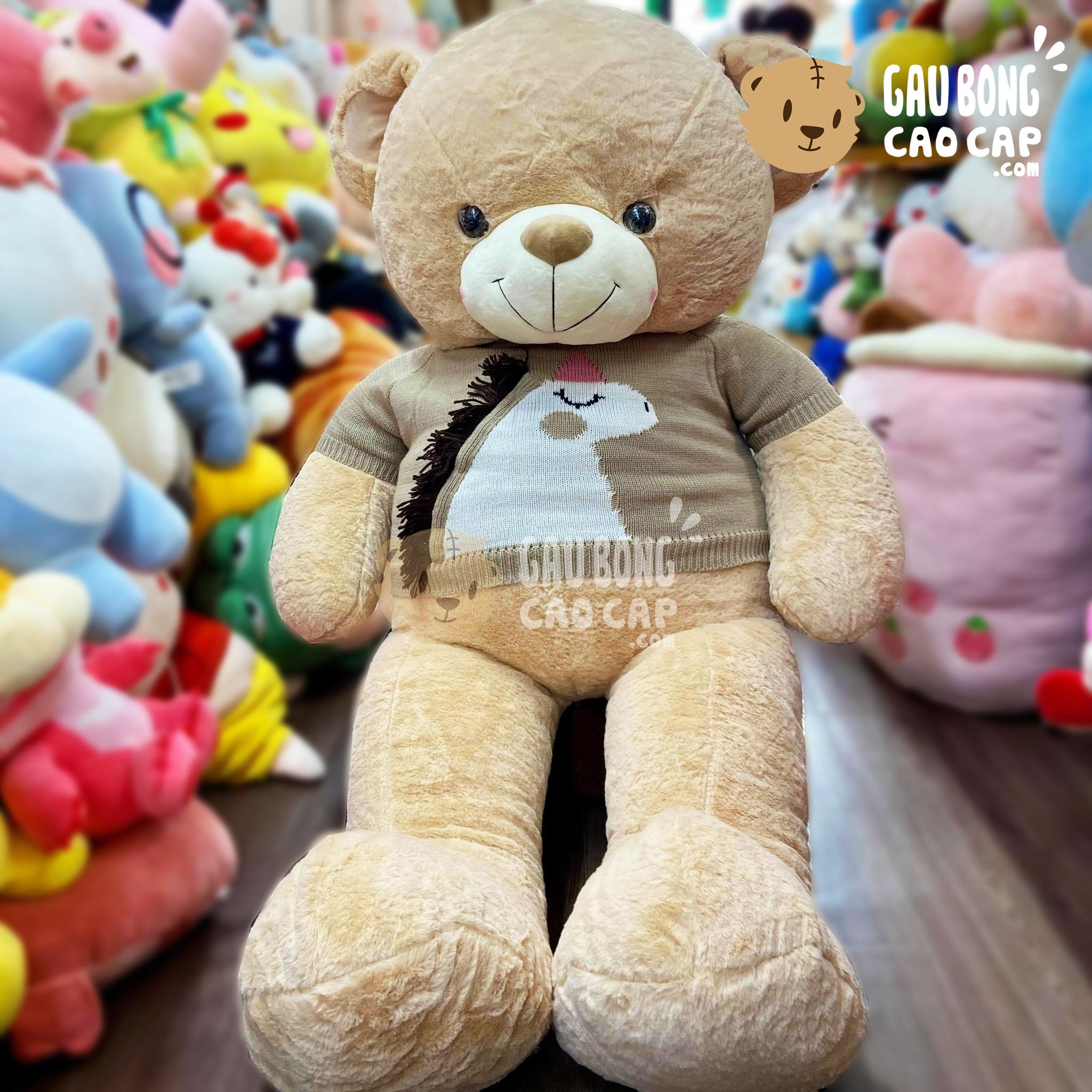 Gấu Teddy Smooth mặc áo len Thêu Unicorn
