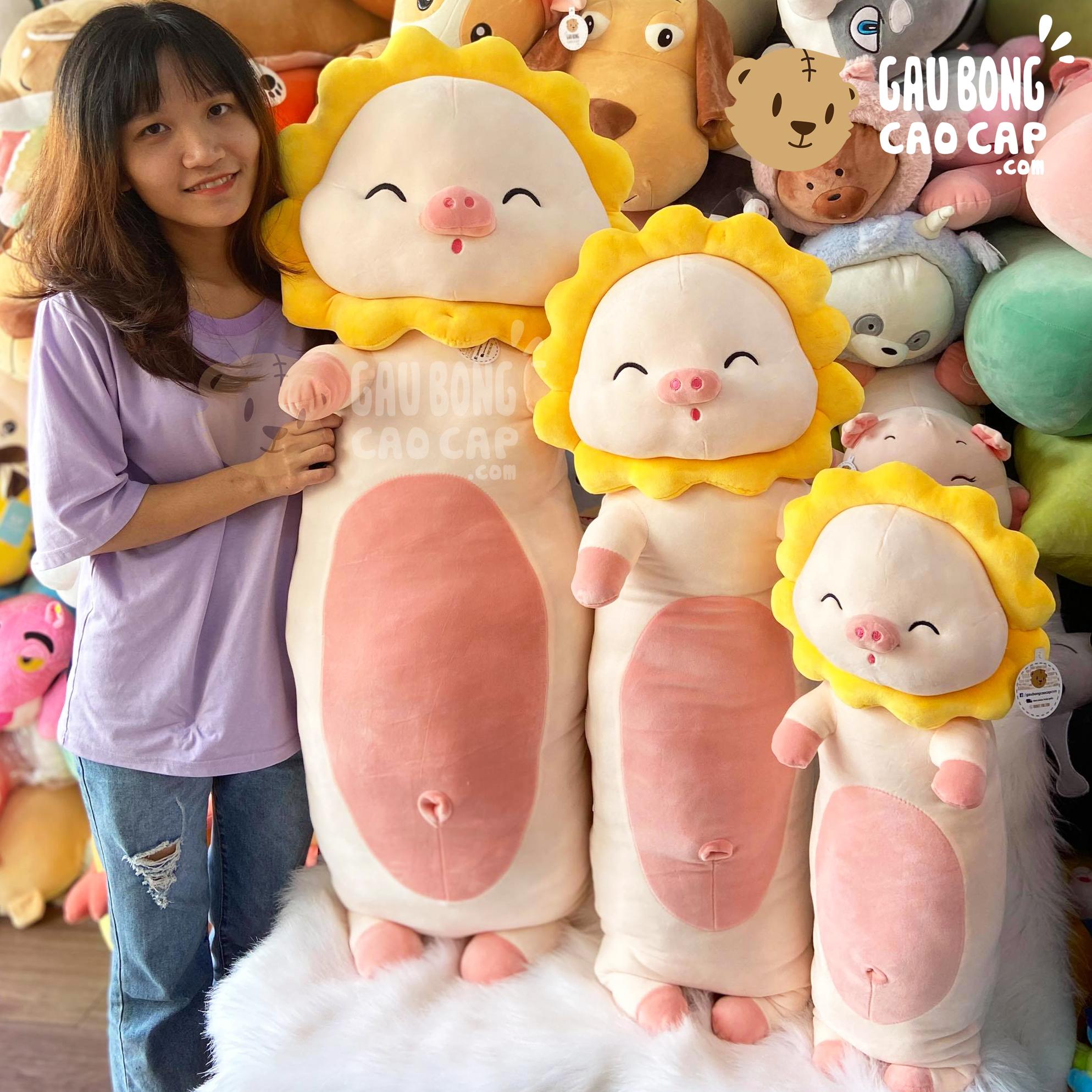 Heo Bông đứng cosplay Hoa Hướng Dương