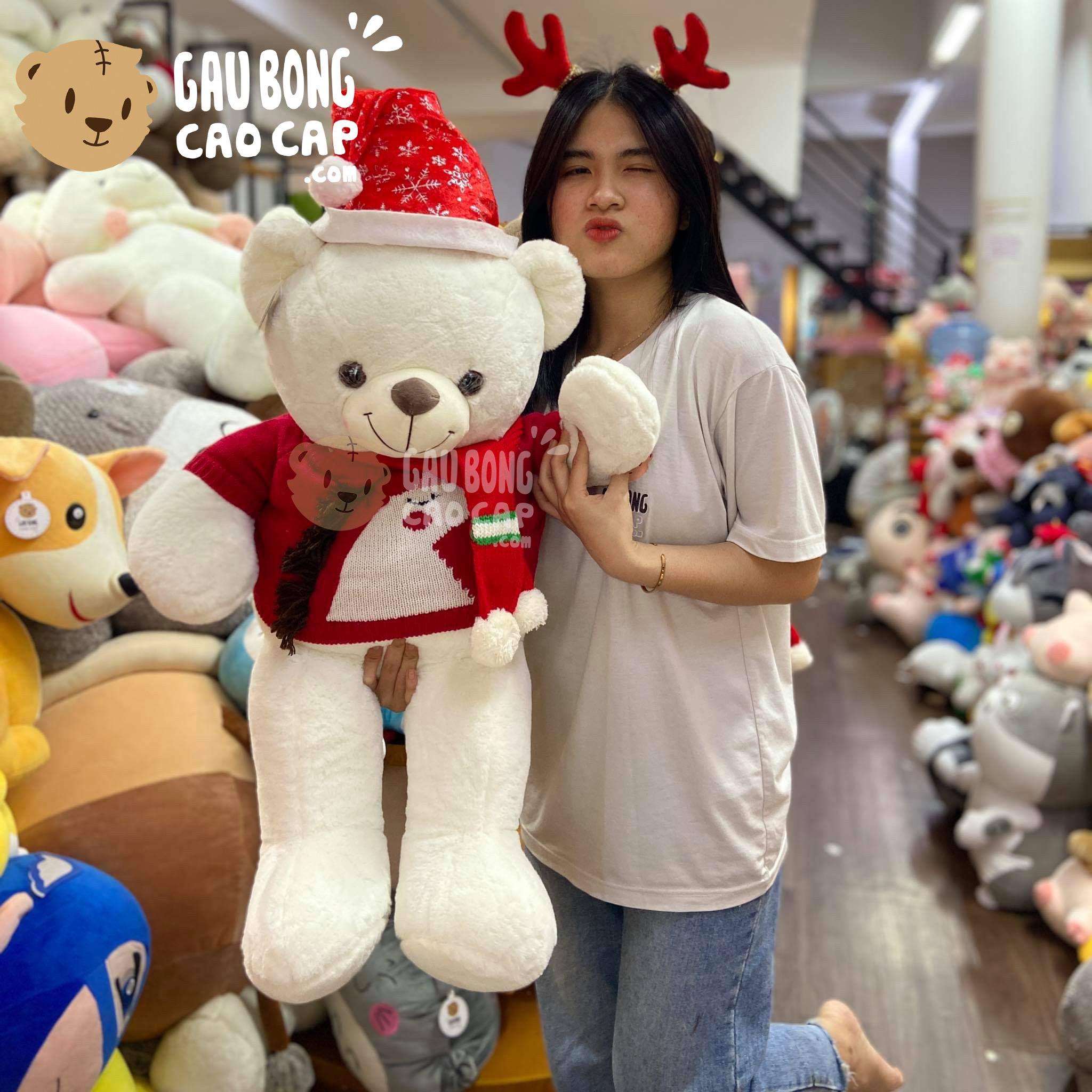 Gấu Teddy Smooth áo len Unicorn + Phụ Kiện Noel