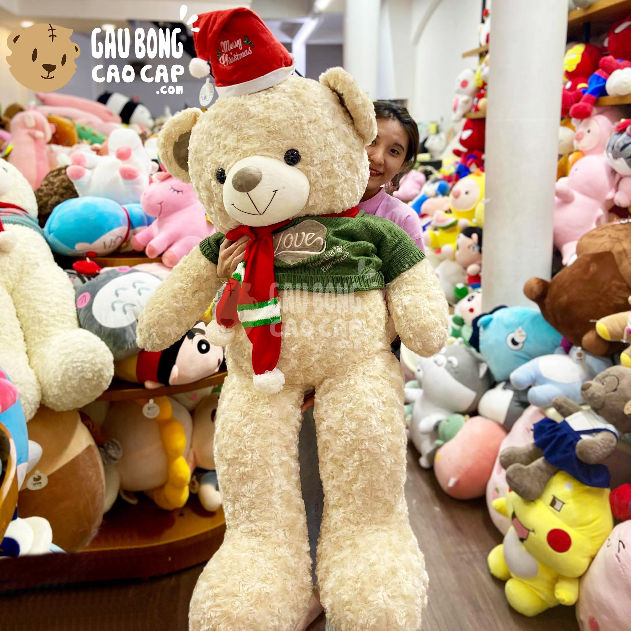 Gấu Teddy Noel lông xoắn Happiness