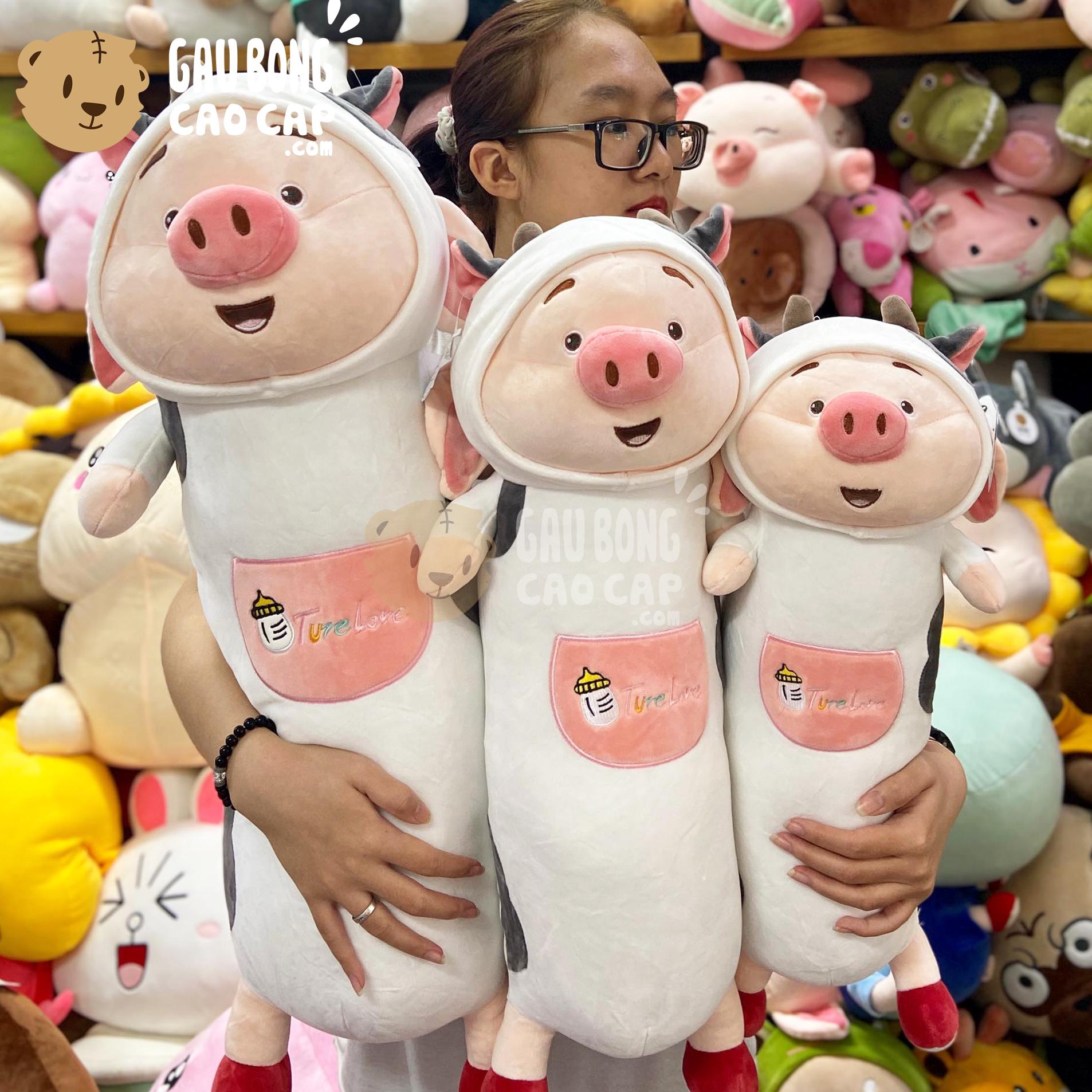 Heo Bông Tiktok cosplay Bò Sữa gối ôm dài