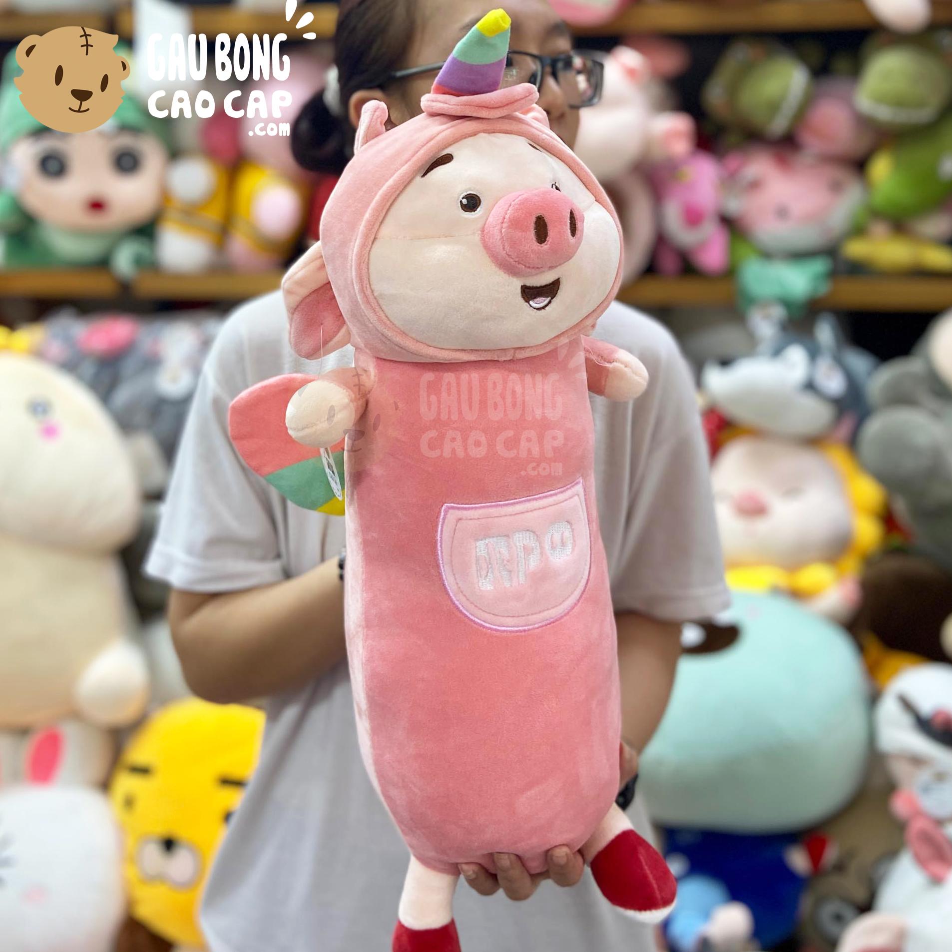 Heo Bông Tiktok cosplay Unicorn gối ôm dài