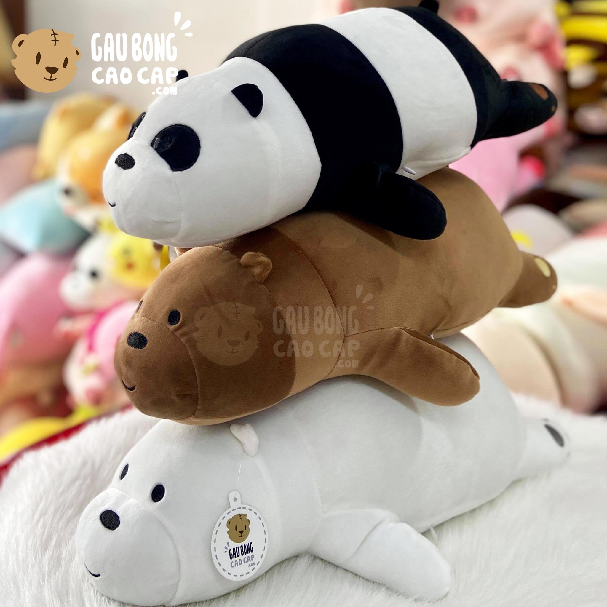 Gấu Bông We Bare Bear nằm 50cm