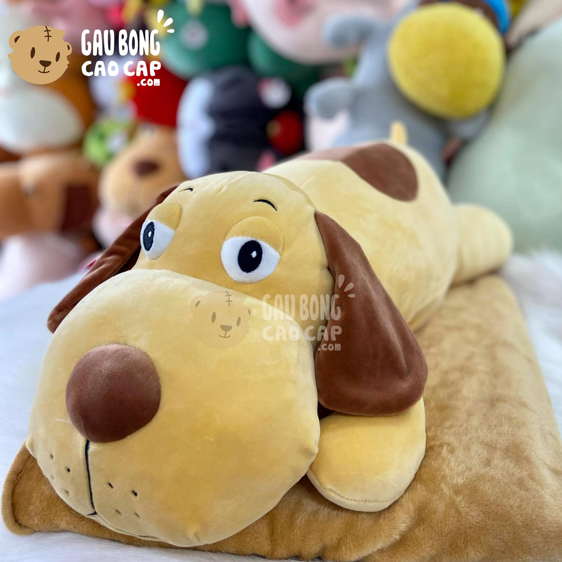 Gối mền Chó Bông tai dài mắt To