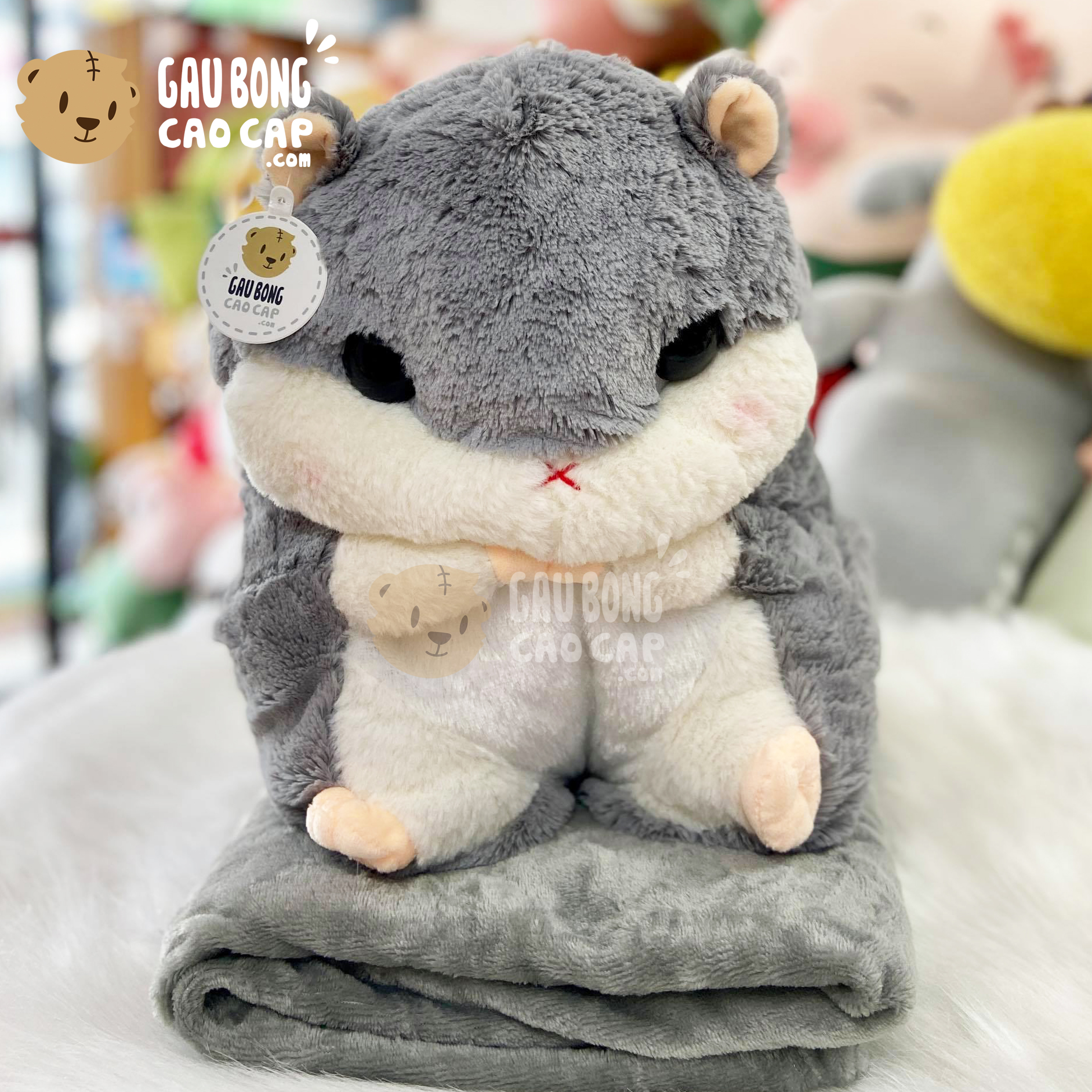 Gối mền Gấu Bông chuột Hamster lông tơ mịn