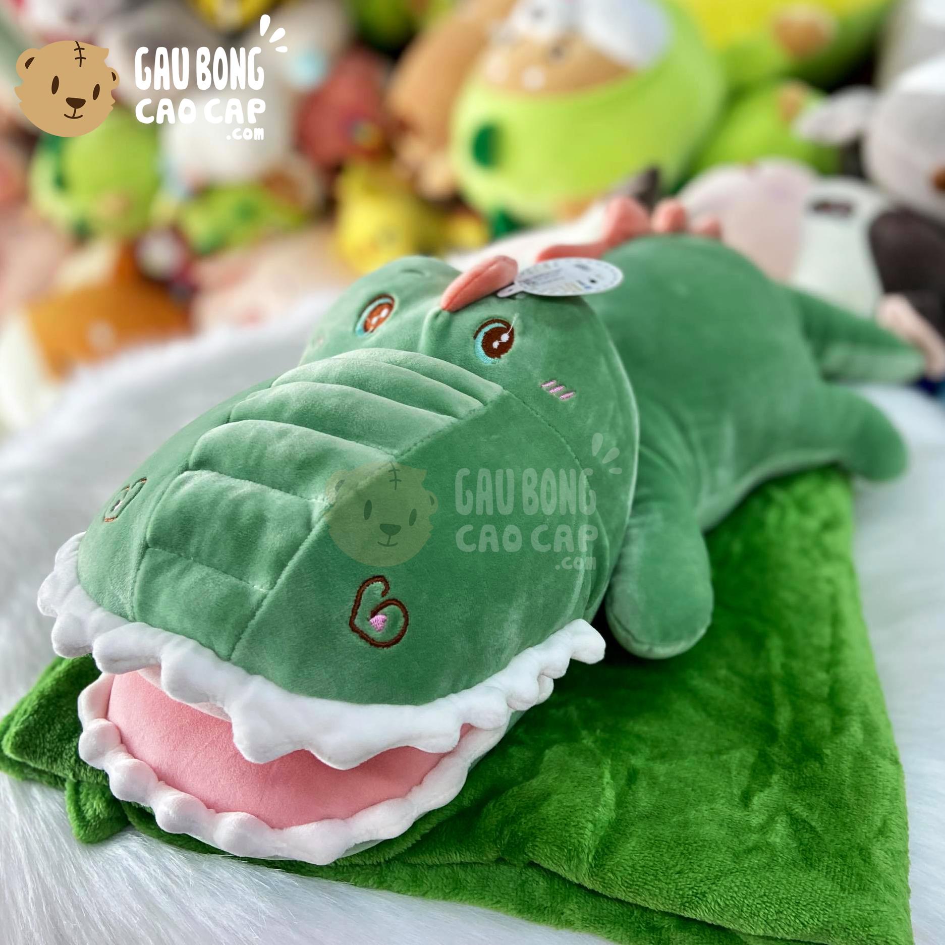 Gối mền Gấu Bông Cá Sấu Bông nhe răng