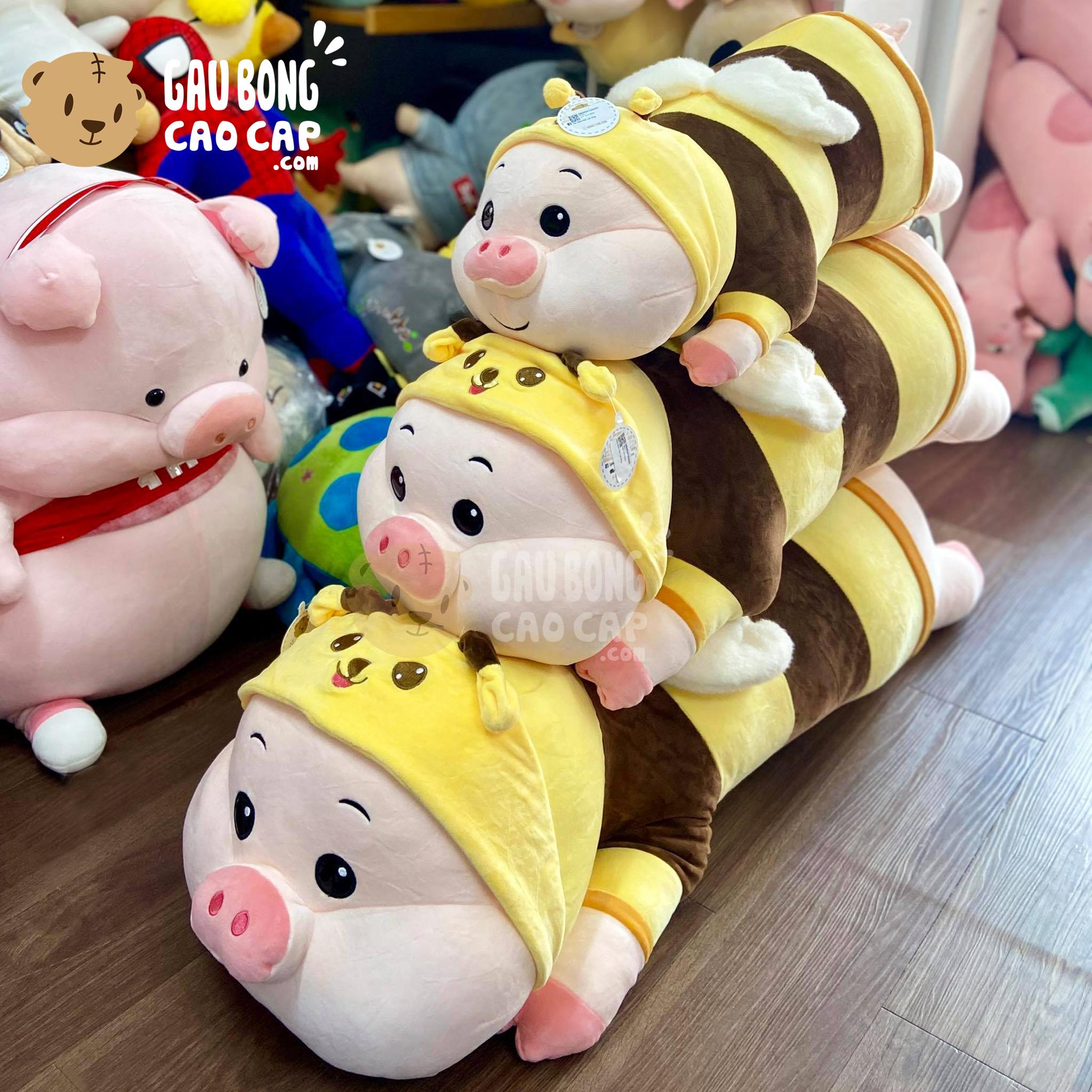 Heo Bông nằm cosplay Ong vàng