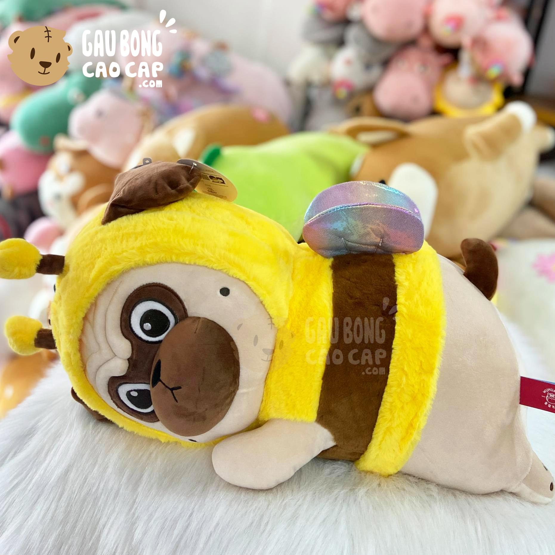 Chó Bông Nô Tài Nằm Cosplay ong Vàng