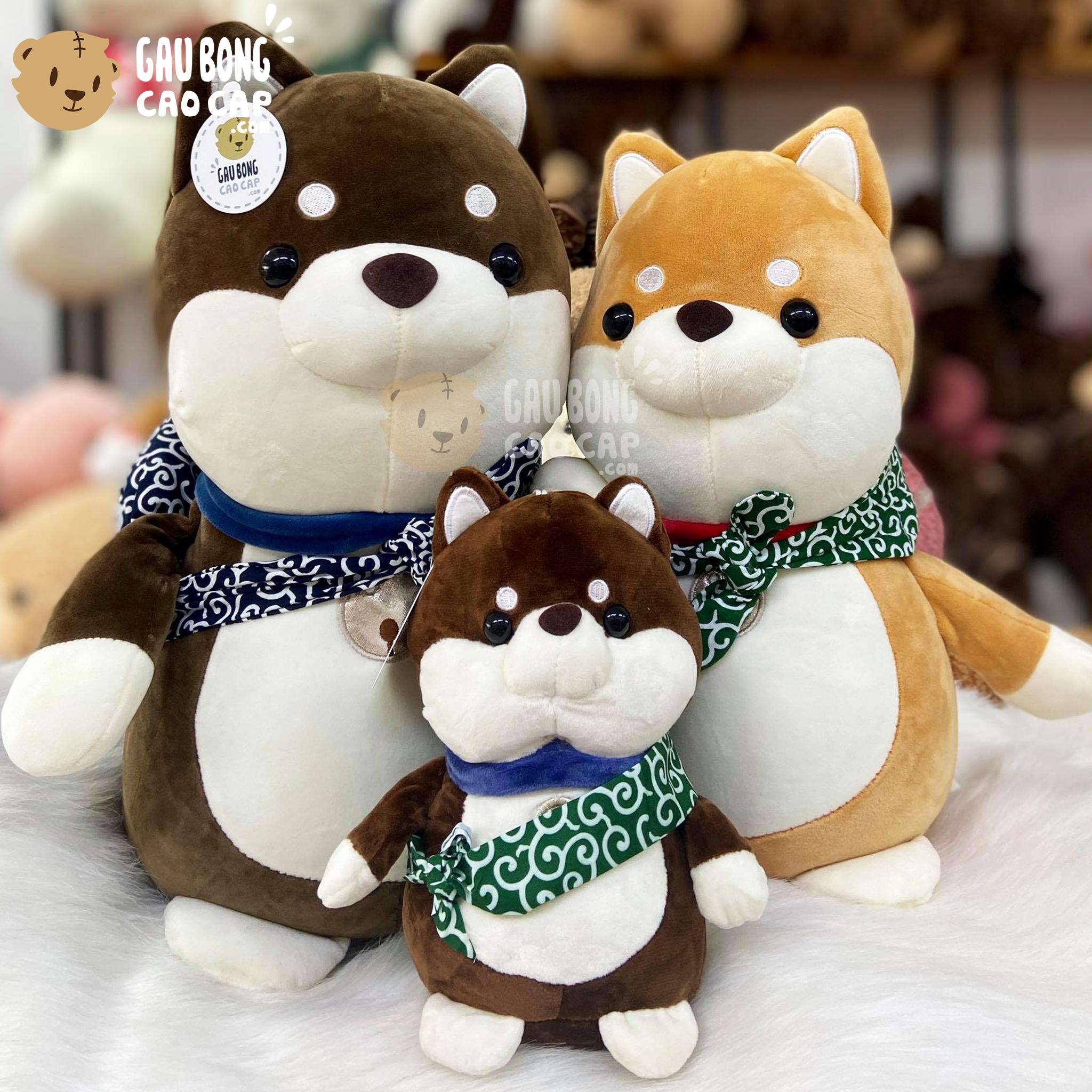 Chó Bông SHIBA đứng đeo tay nải