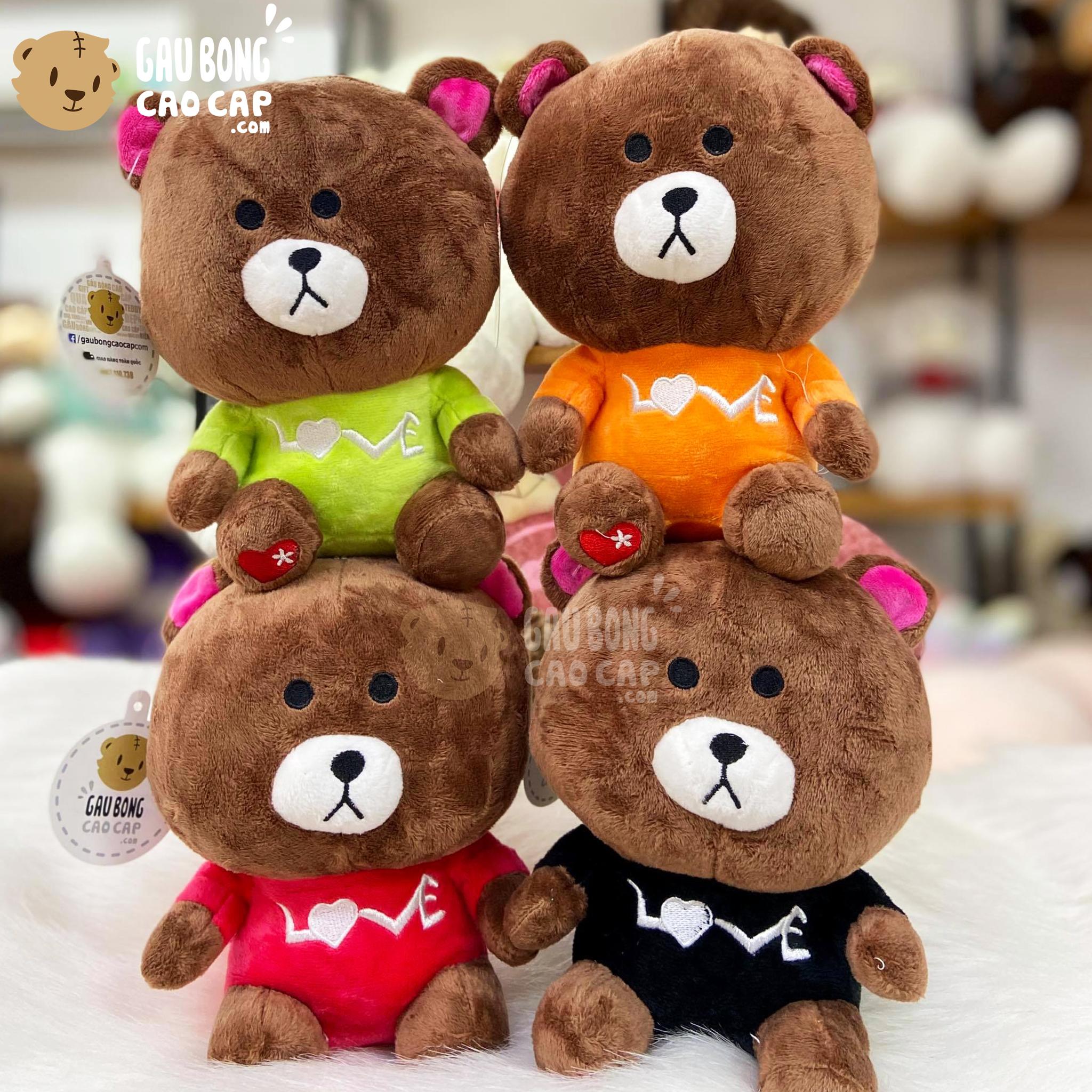 Gấu Brown Mặc Áo Love
