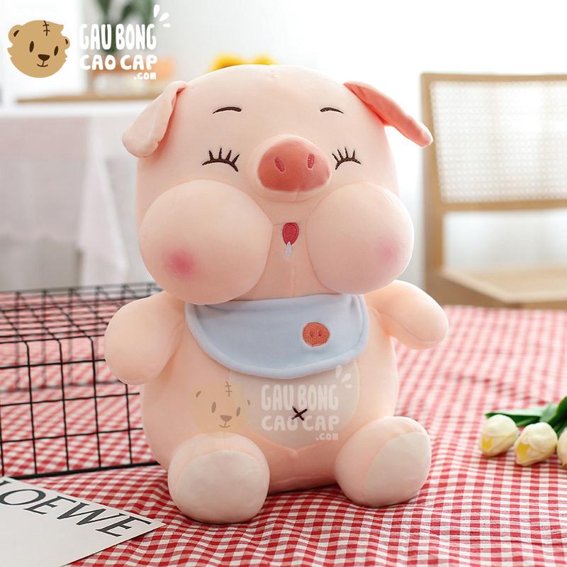 Heo Bông baby ngồi đeo Yếm nhỏ Dãi